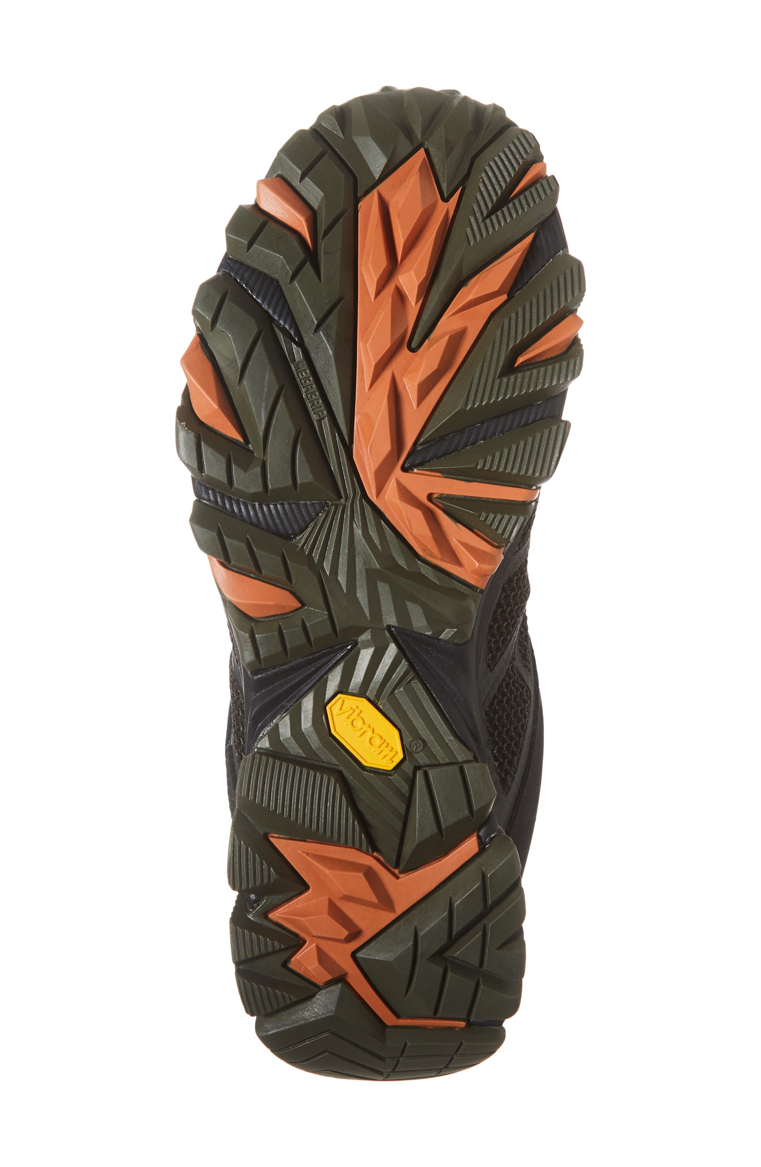 MERRELL, Moab FST 2 Waterproof Hiking Shoe, Alternate thumbnail 6, color, OLIVE/ ADOBE