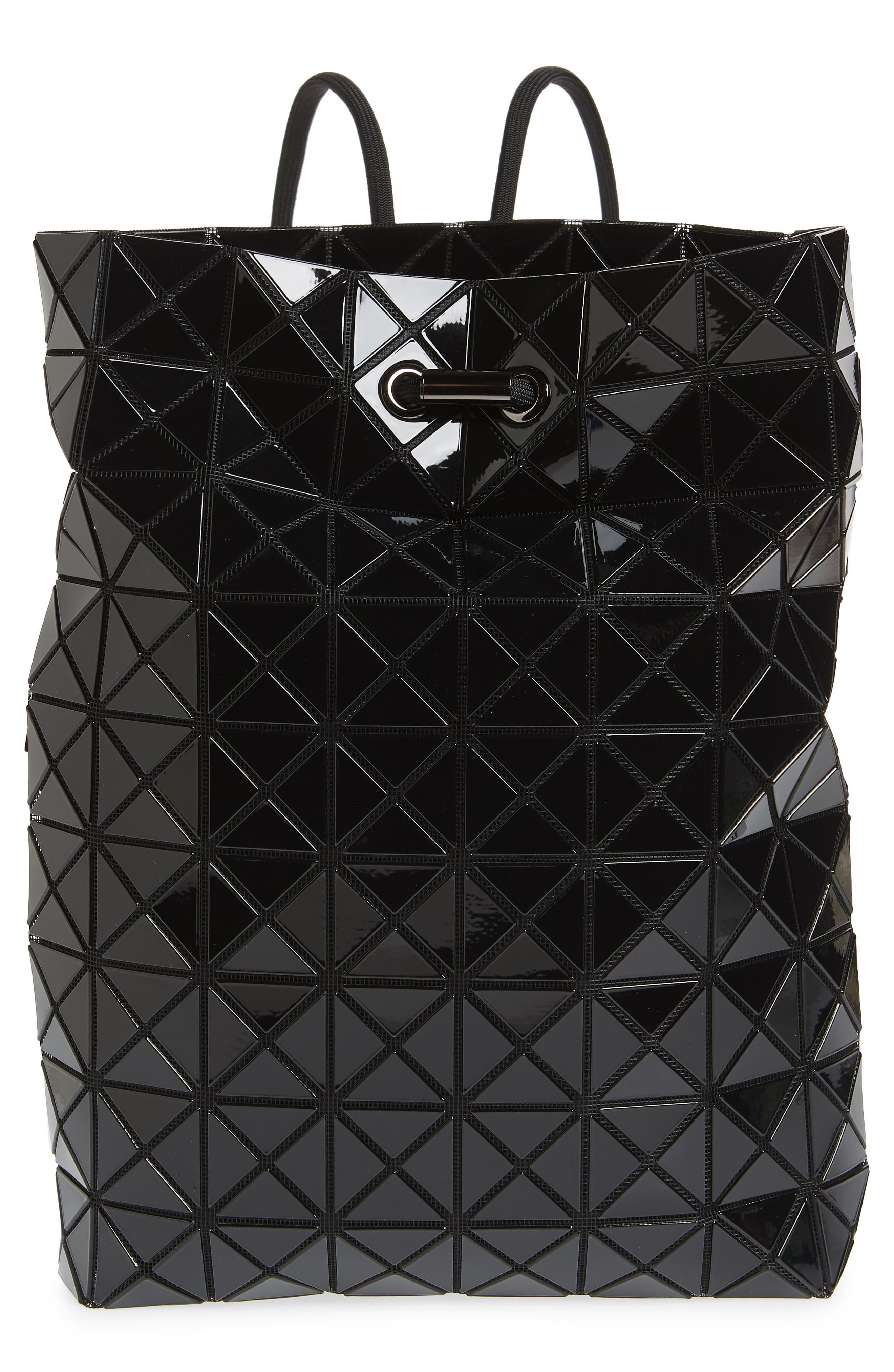 BAO BAO ISSEY MIYAKE, Wring Flat Backpack, Main thumbnail 1, color, BLACK