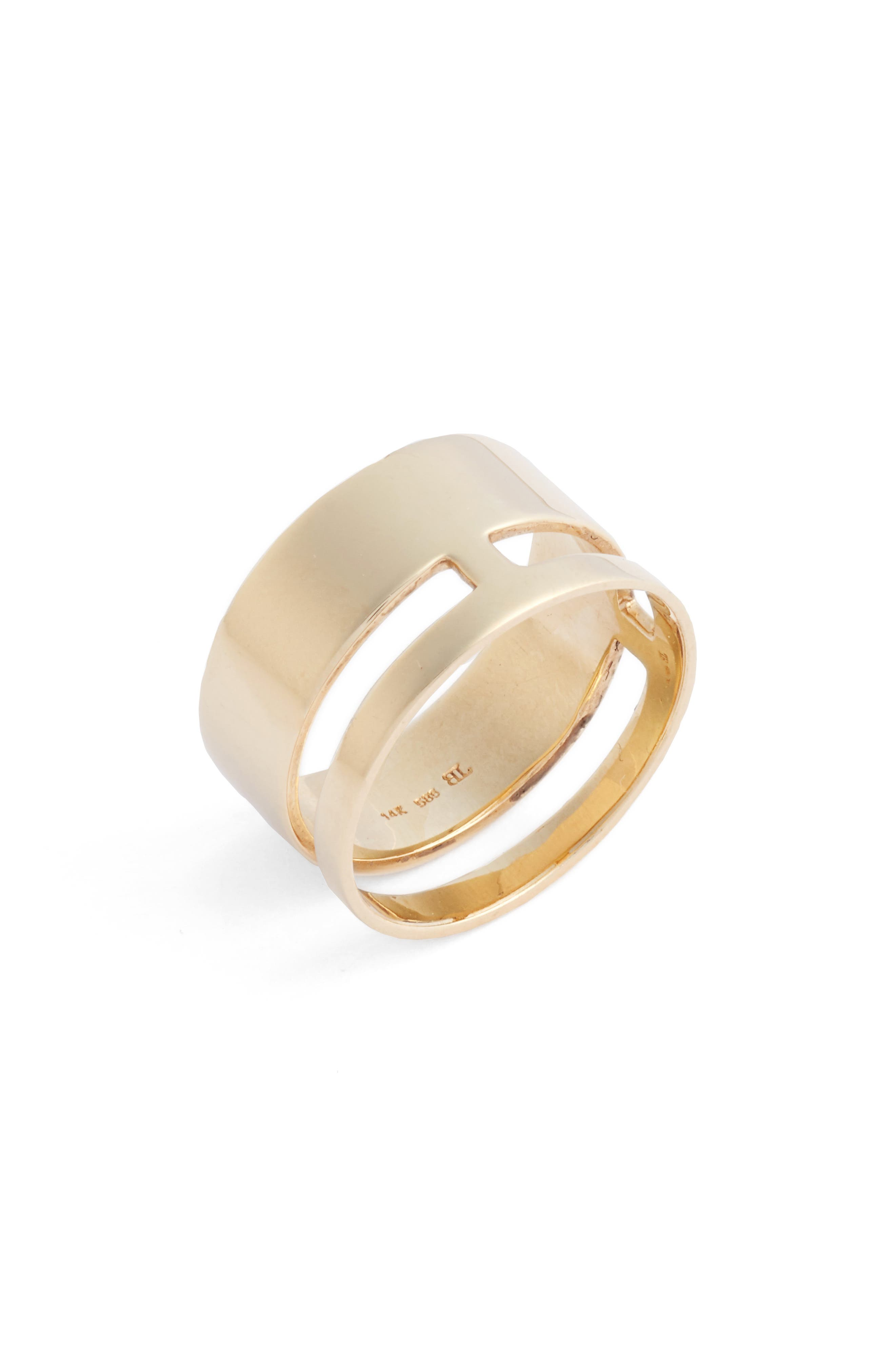 BONY LEVY, Ofira Bold 14K Gold Ring, Main thumbnail 1, color, YELLOW GOLD