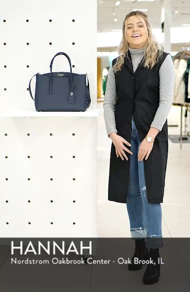 large margaux leather satchel, sales video thumbnail