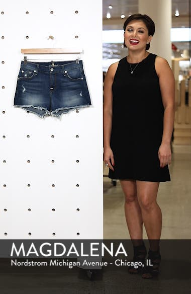 High Waist Cutoff Denim Shorts, sales video thumbnail