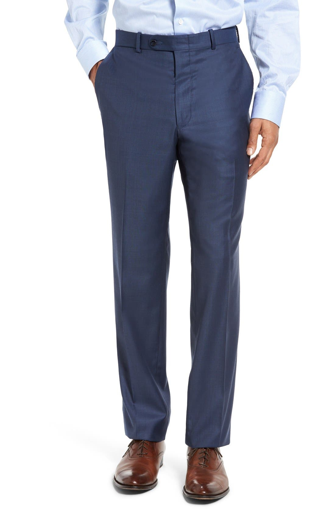 PETER MILLAR, Flynn Classic Fit Wool Suit, Alternate thumbnail 9, color, BLUE