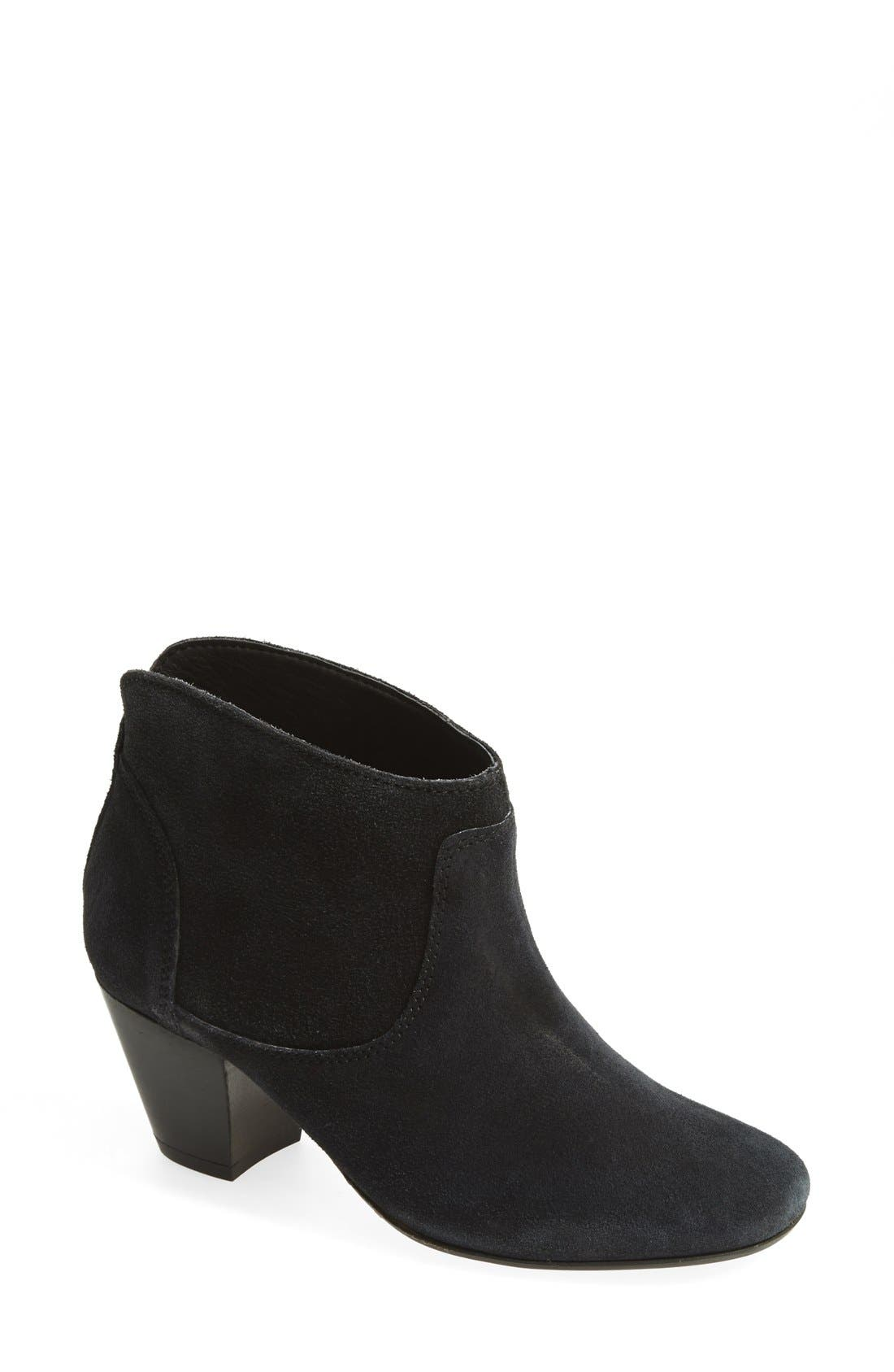 H BY HUDSON, 'Kiver' Suede Bootie, Main thumbnail 1, color, 001