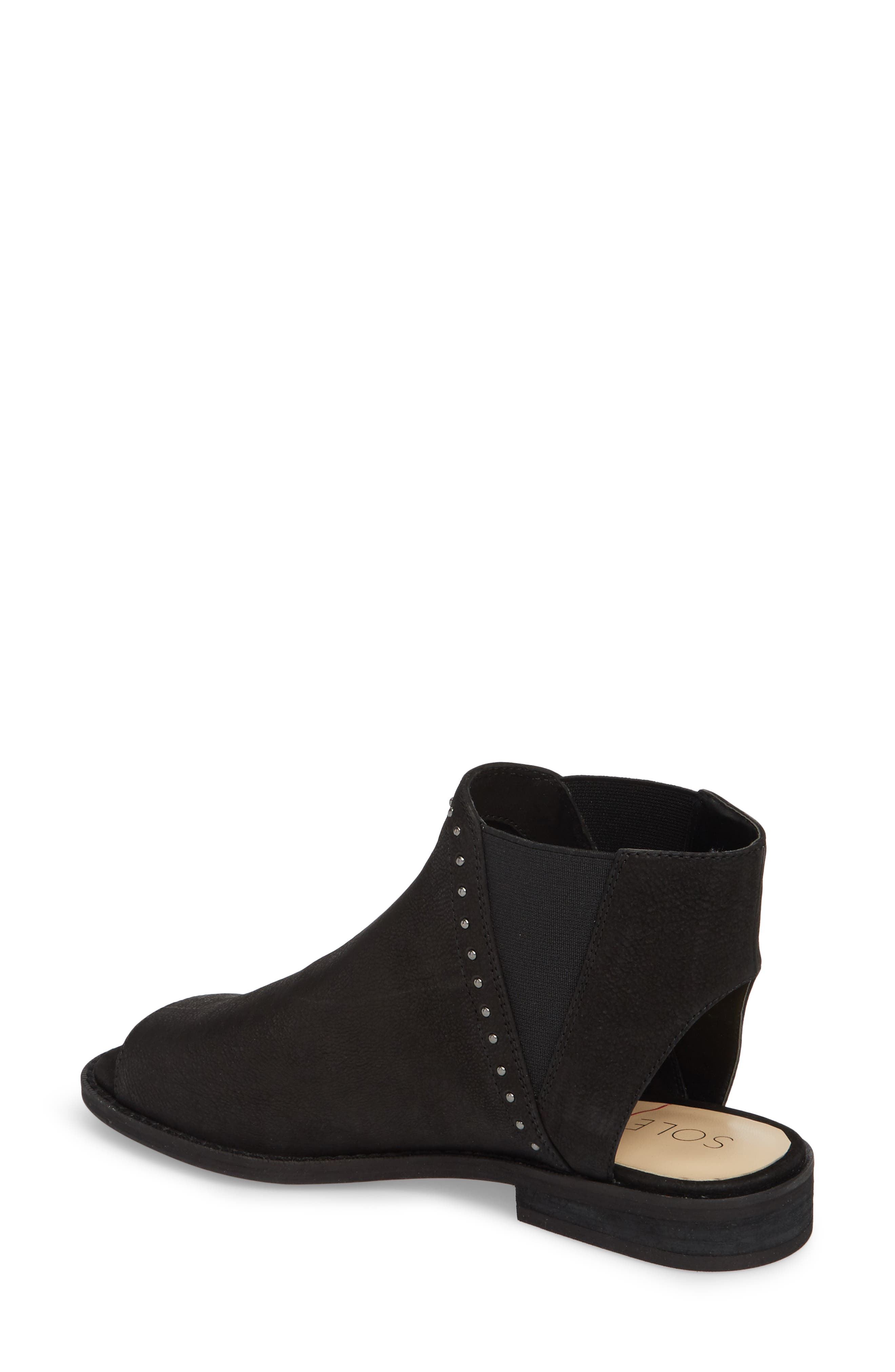 SOLE SOCIETY, Birty Bootie, Alternate thumbnail 2, color, BLACK
