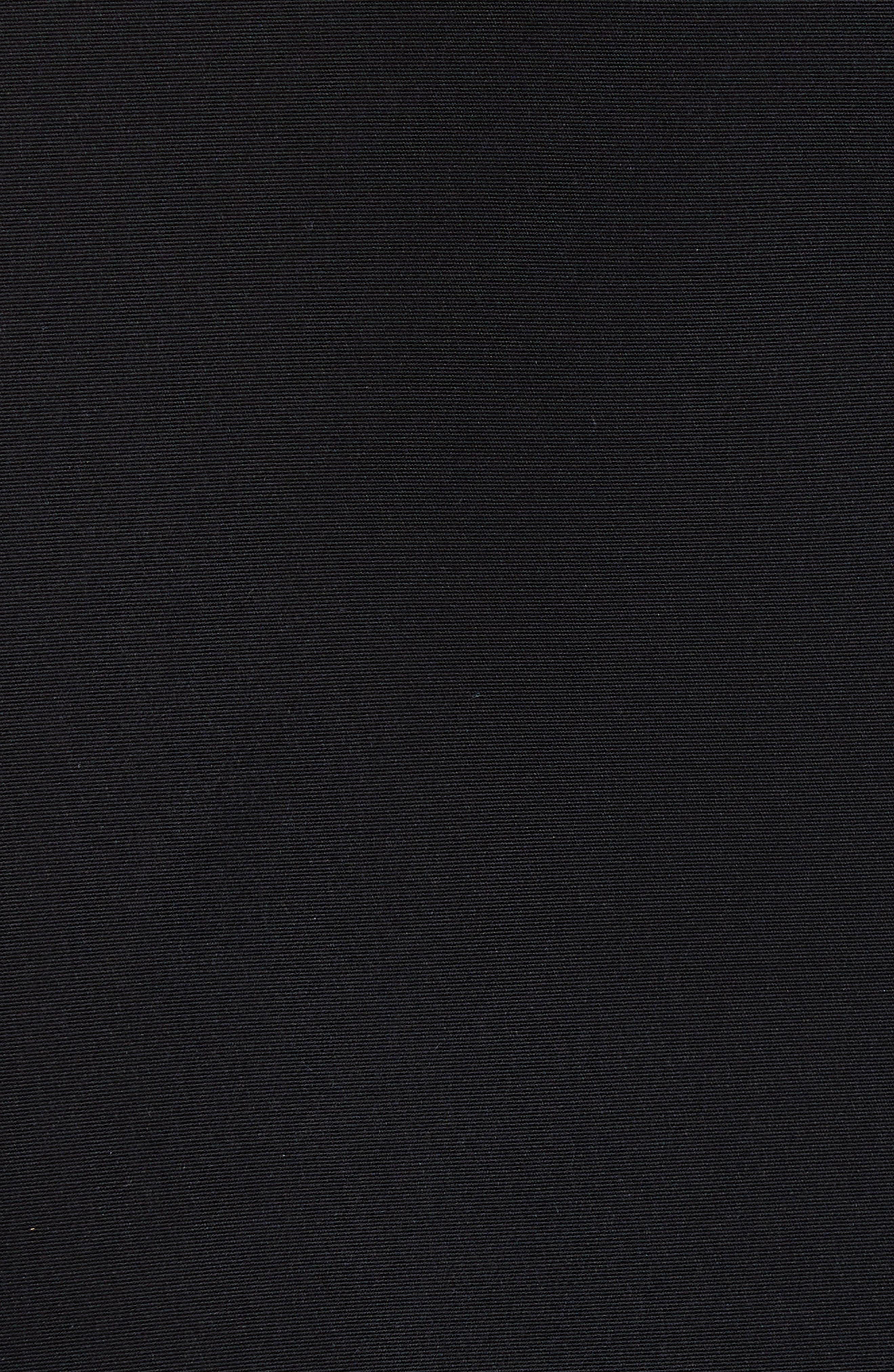 NOIR KEI NINOMIYA, Sheer Panel Moto Jacket, Alternate thumbnail 6, color, BLACK