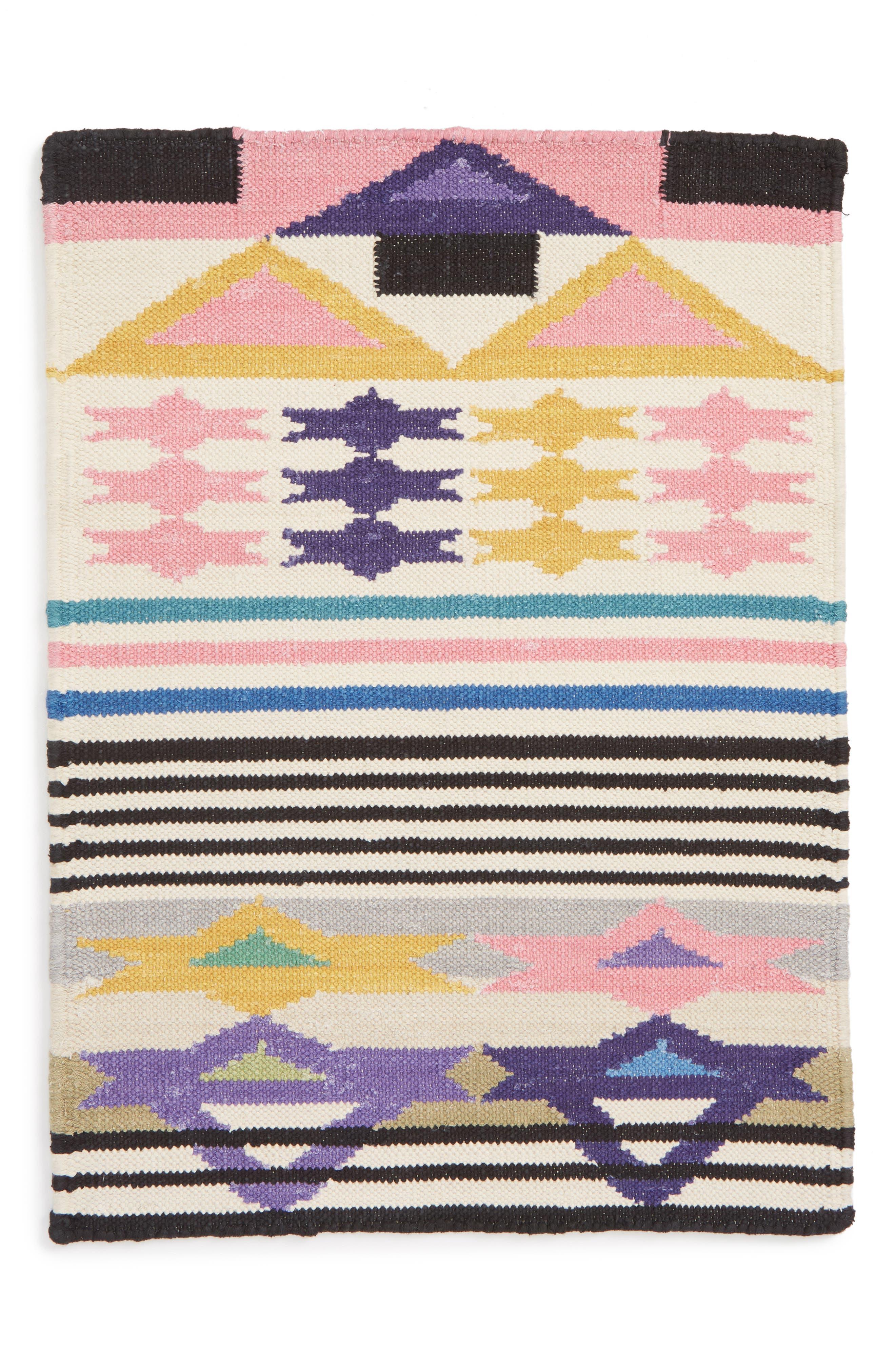 AELFIE Heat Wave In Rajasthan Flat Weave Rug, Main, color, HEAT WAVE IN RAJASTHAN
