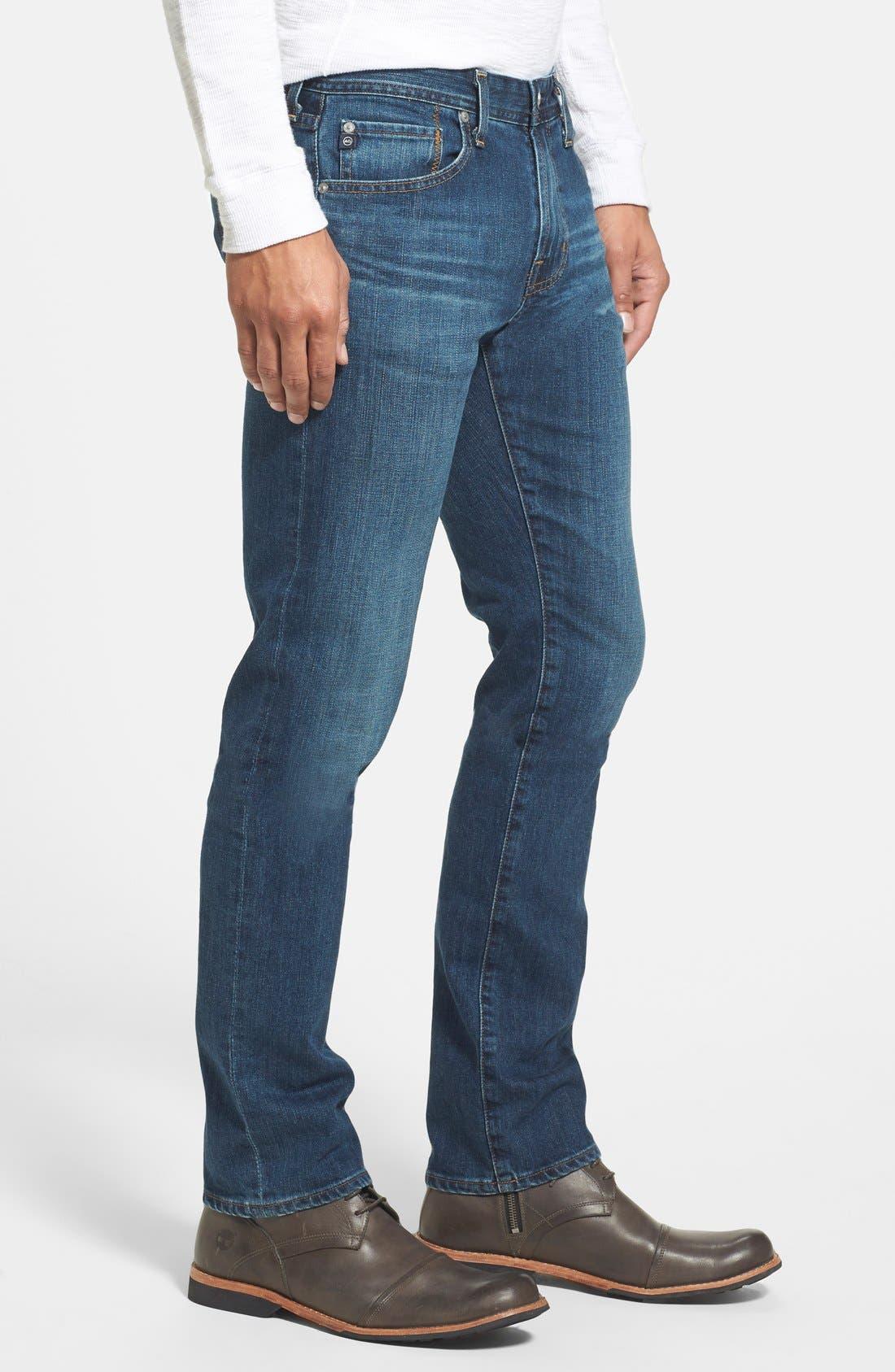 AG, 'Matchbox' Slim Fit Jeans, Alternate thumbnail 4, color, 400