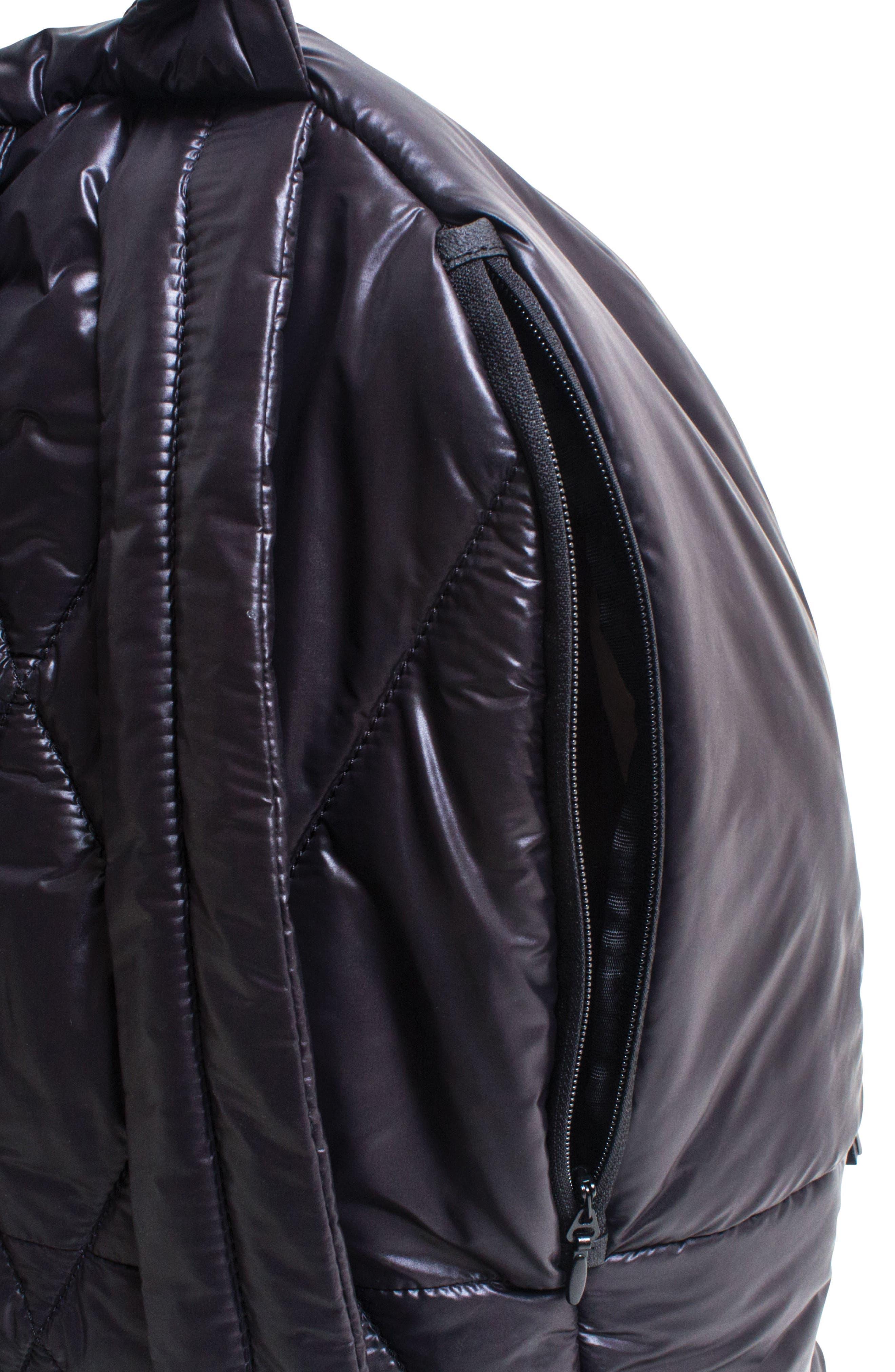 CARAA, Stratus Waterproof Backpack, Alternate thumbnail 7, color, BLACK