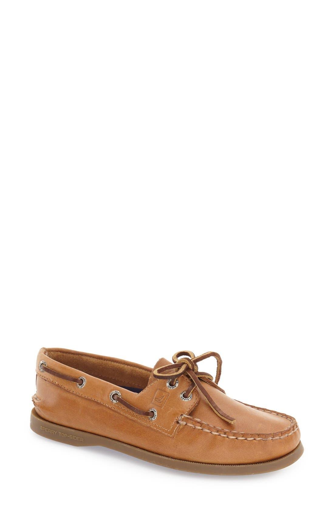 SPERRY 'Authentic Original' Boat Shoe, Main, color, NUTMEG/ SAHARA
