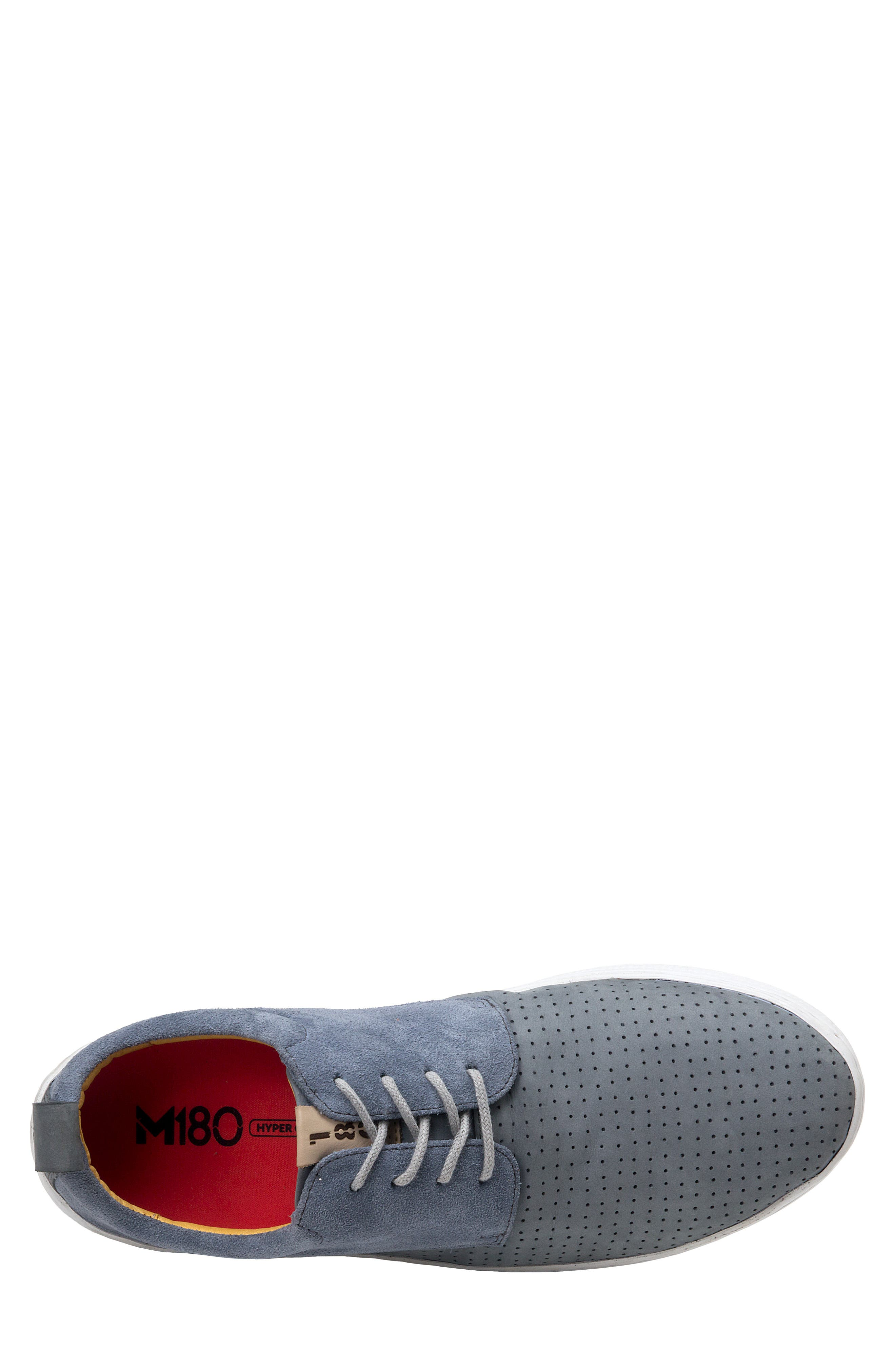 SANDRO MOSCOLONI, Mack Perforated Derby, Alternate thumbnail 2, color, GREY LEATHER