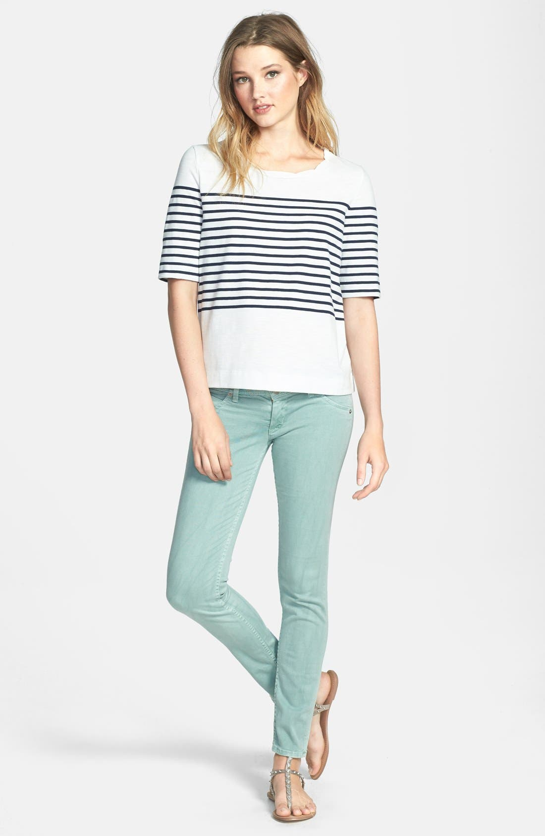 HUDSON JEANS, Skinny Stretch Jeans, Main thumbnail 1, color, 332