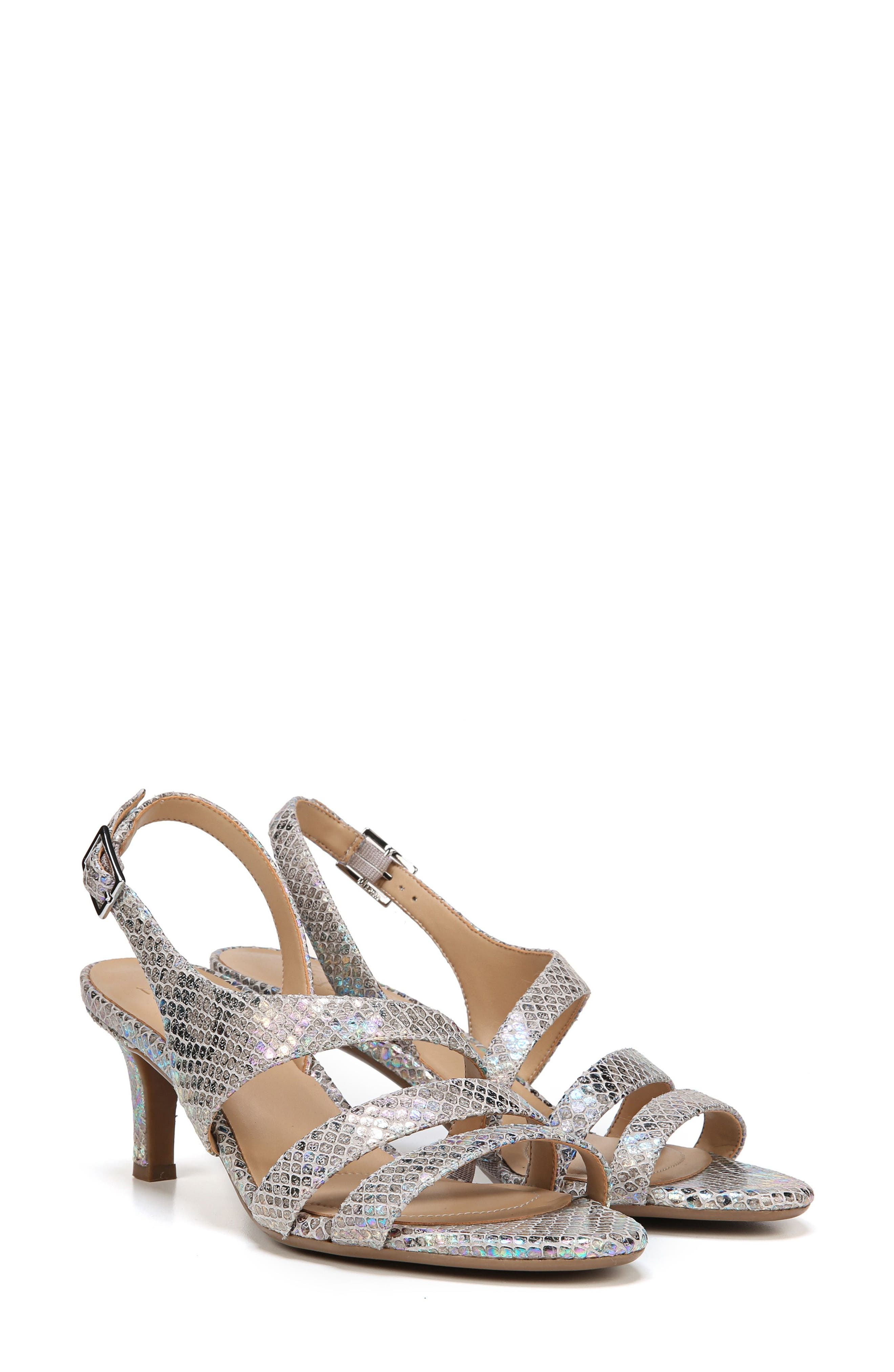 NATURALIZER, Taimi Sandal, Alternate thumbnail 8, color, SILVER SNAKE LEATHER PRINT