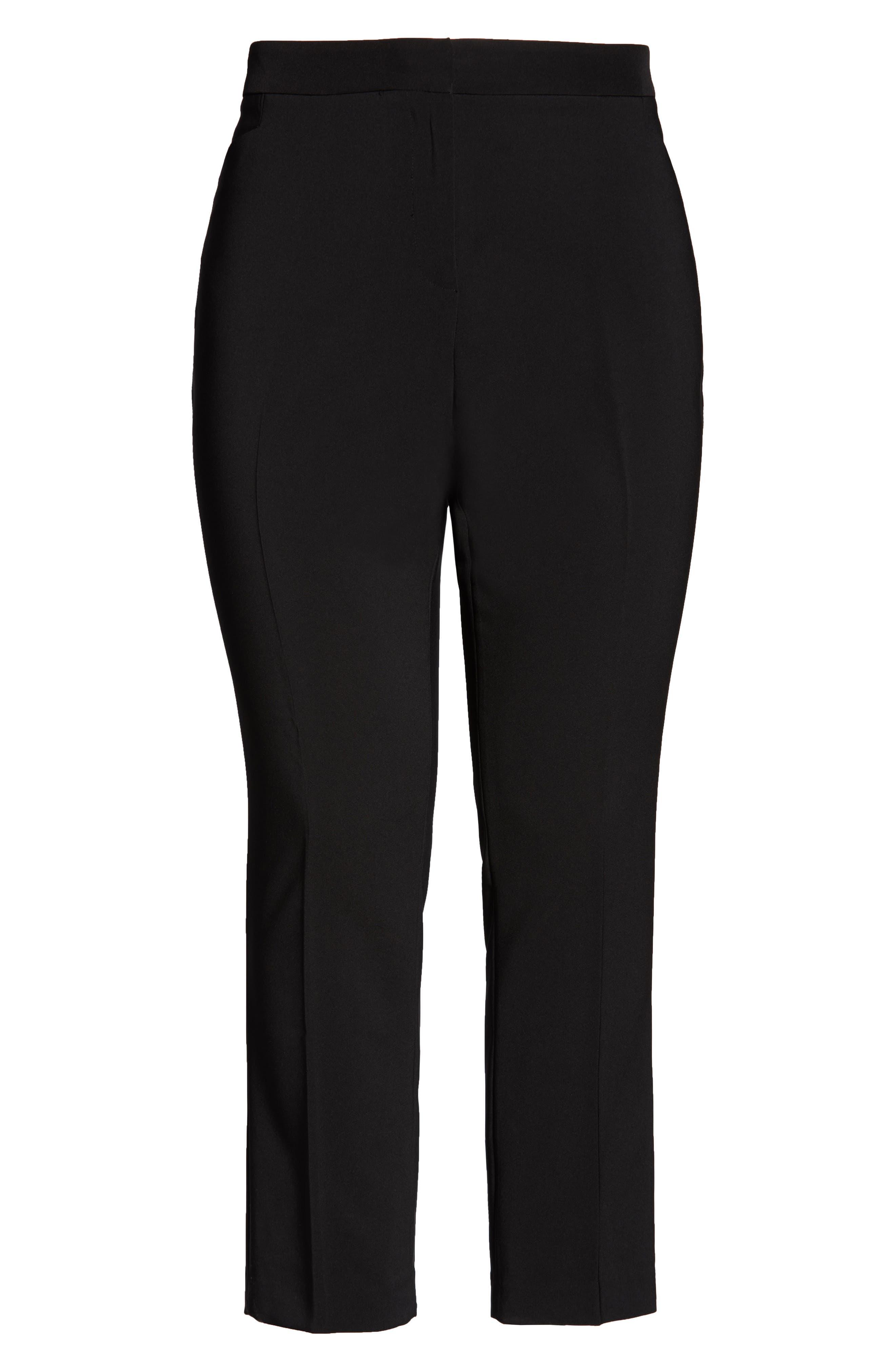 VINCE CAMUTO, Ankle Pants, Alternate thumbnail 7, color, RICH BLACK