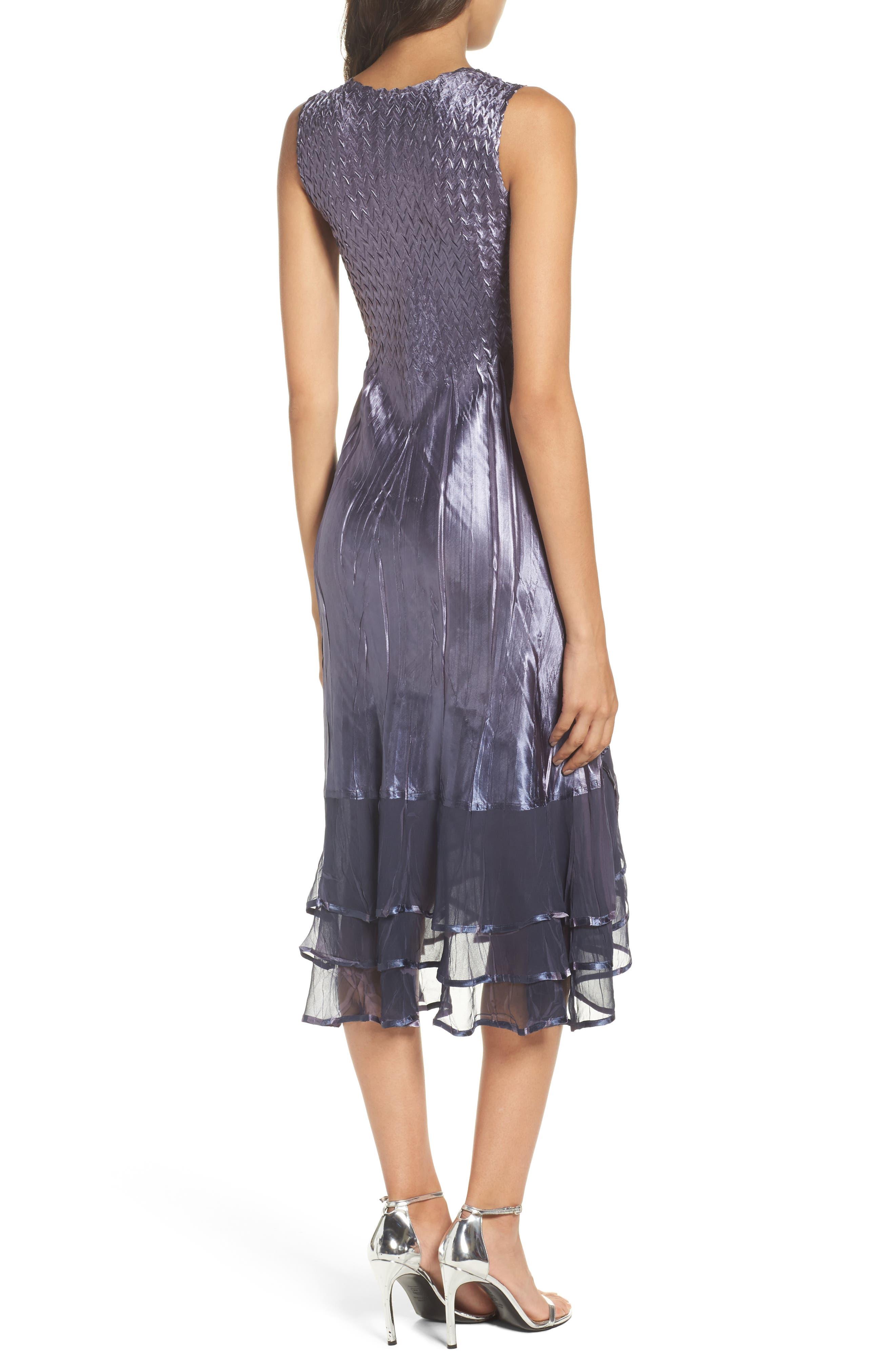 KOMAROV, Embellished Charmeuse Dress & Chiffon Jacket, Alternate thumbnail 5, color, 454