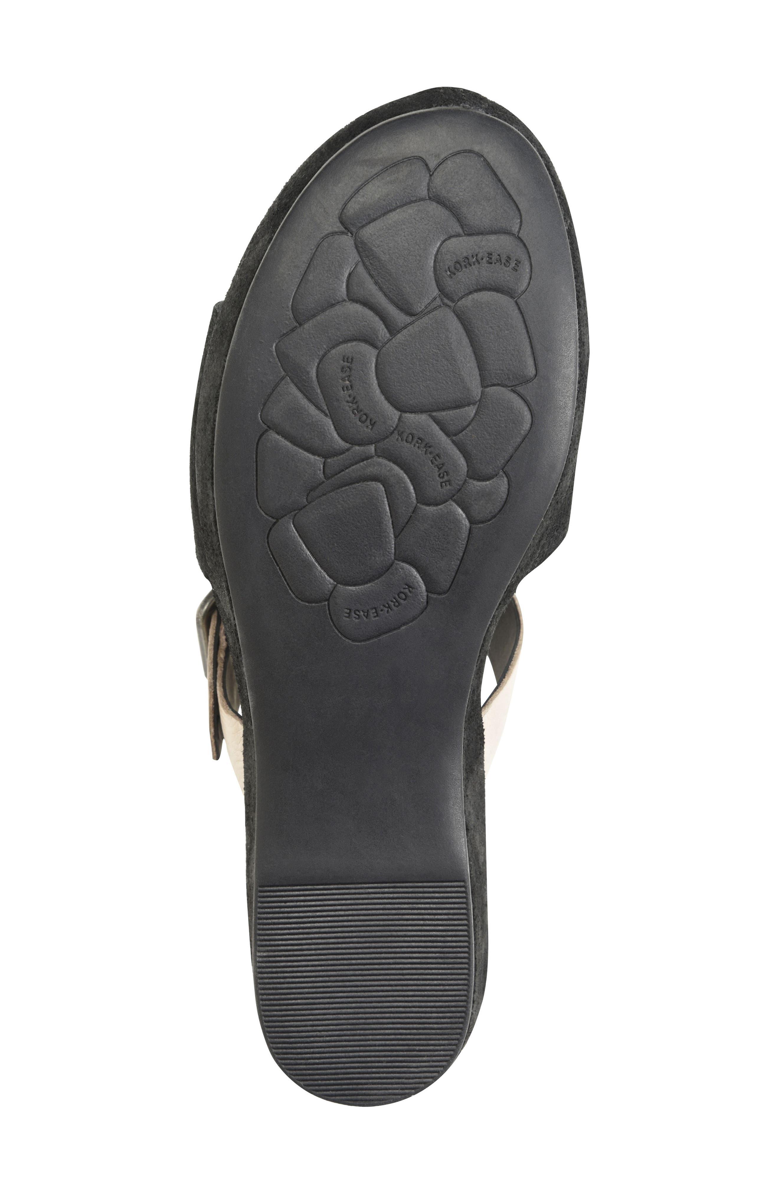 KORK-EASE<SUP>®</SUP>, Bisti Wedge Slide Sandal, Alternate thumbnail 5, color, BLACK/ GREY LEATHER