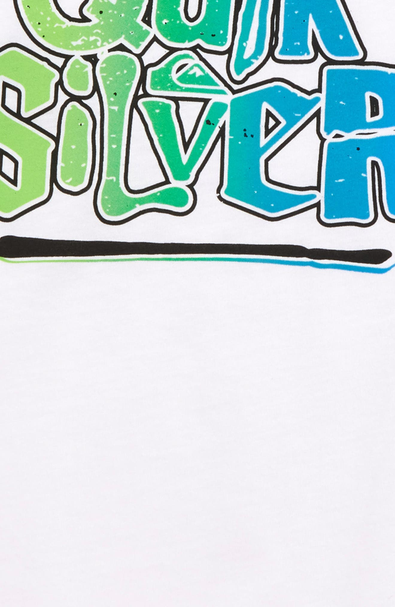 QUIKSILVER, Rebel Yell Graphic T-Shirt, Alternate thumbnail 3, color, WHITE