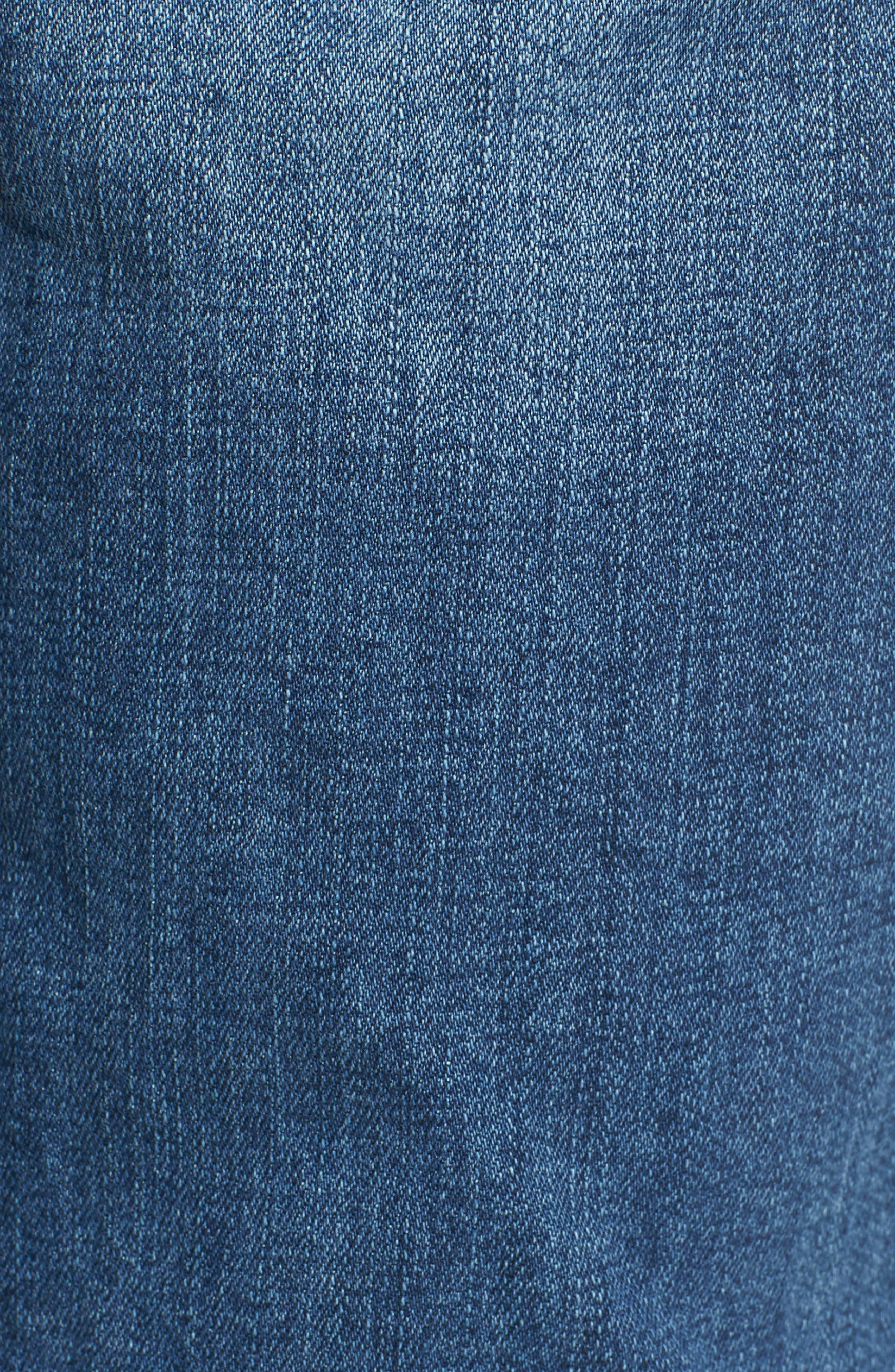WIT & WISDOM, Flex-ellent Cuffed Boyfriend Jeans, Alternate thumbnail 6, color, BLUE