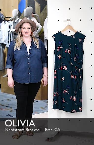Floral Print Cap Sleeve Sheath Dress, sales video thumbnail