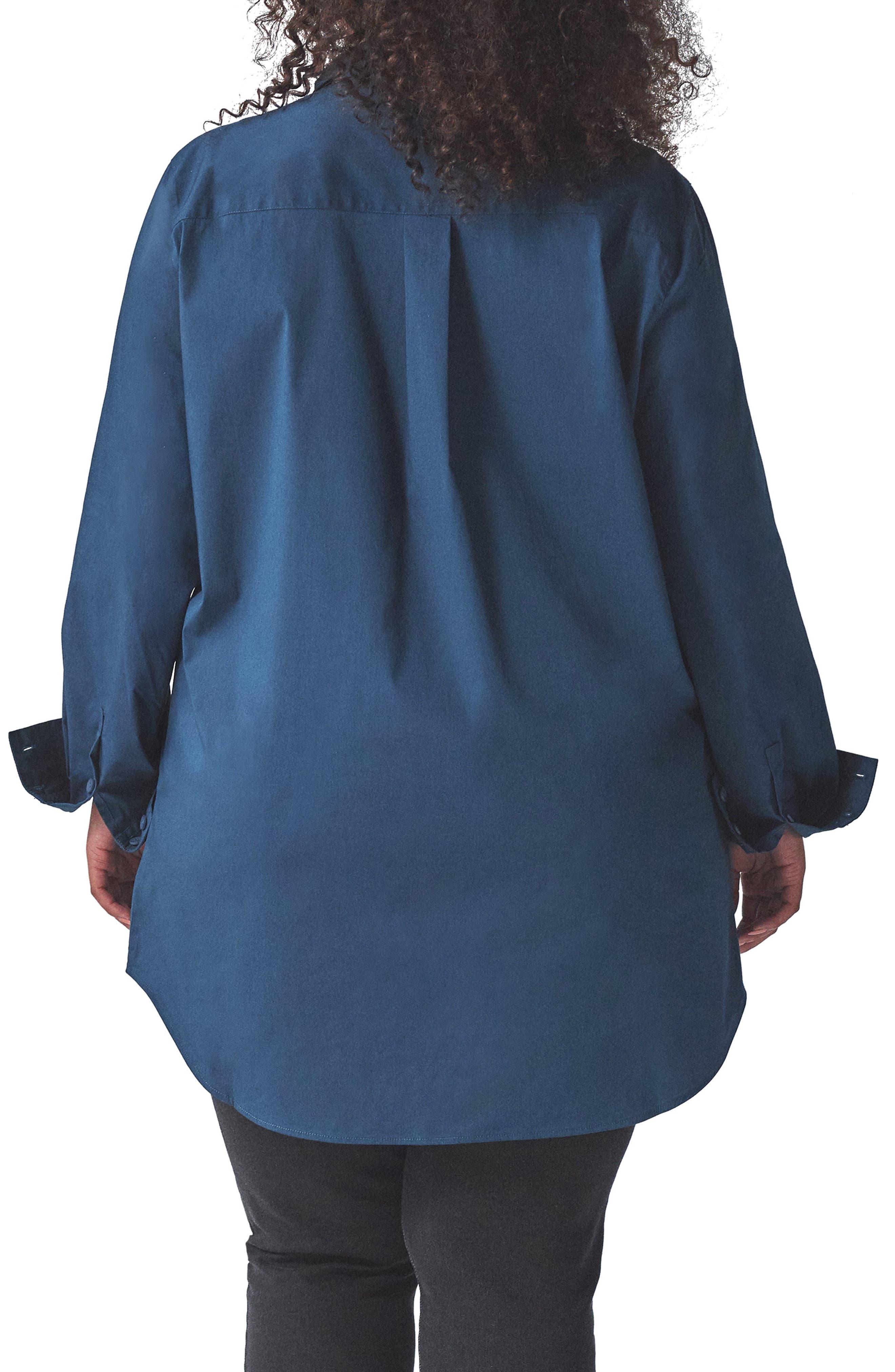 UNIVERSAL STANDARD, Elbe Tunic Shirt, Alternate thumbnail 2, color, STORM