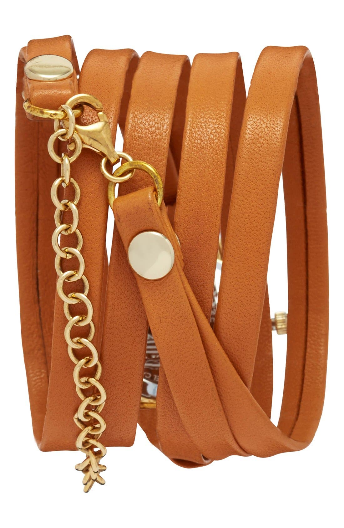 LA MER COLLECTIONS, 'Saturn' Round Leather Wrap Watch, 32mm, Alternate thumbnail 2, color, 200