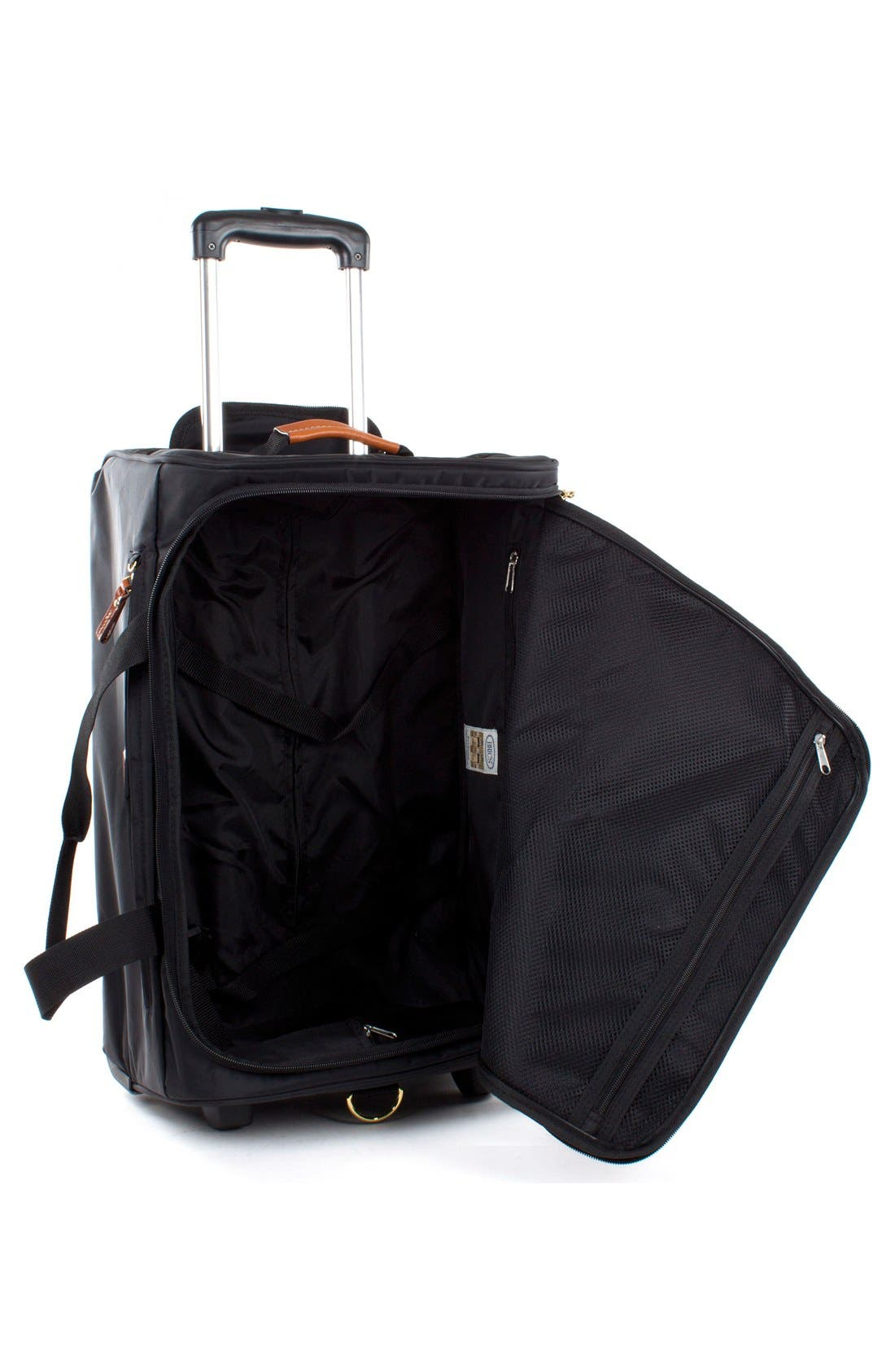 BRIC'S, Brics X-Bag 21-Inch Rolling Carry-On Duffle Bag, Alternate thumbnail 3, color, BLACK