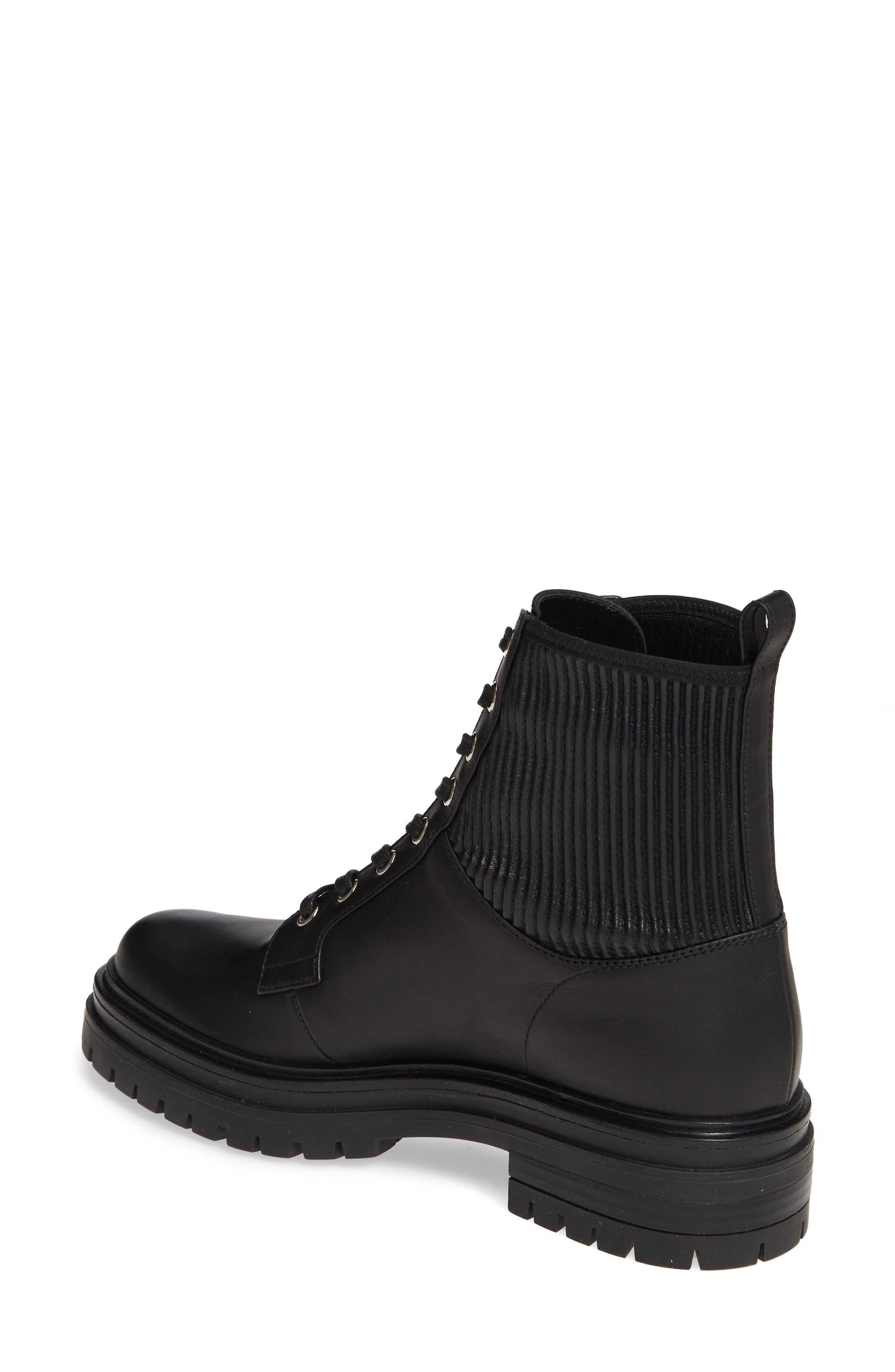 GIANVITO ROSSI, Combat Boot, Alternate thumbnail 2, color, BLACK