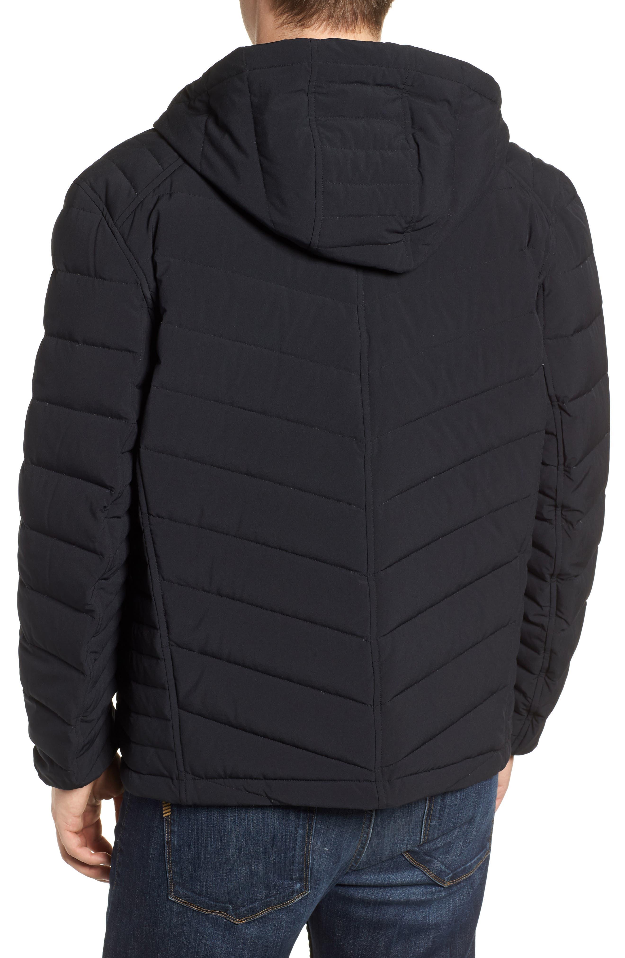 MARC NEW YORK, Delavan Down Hooded Jacket, Alternate thumbnail 2, color, BLACK
