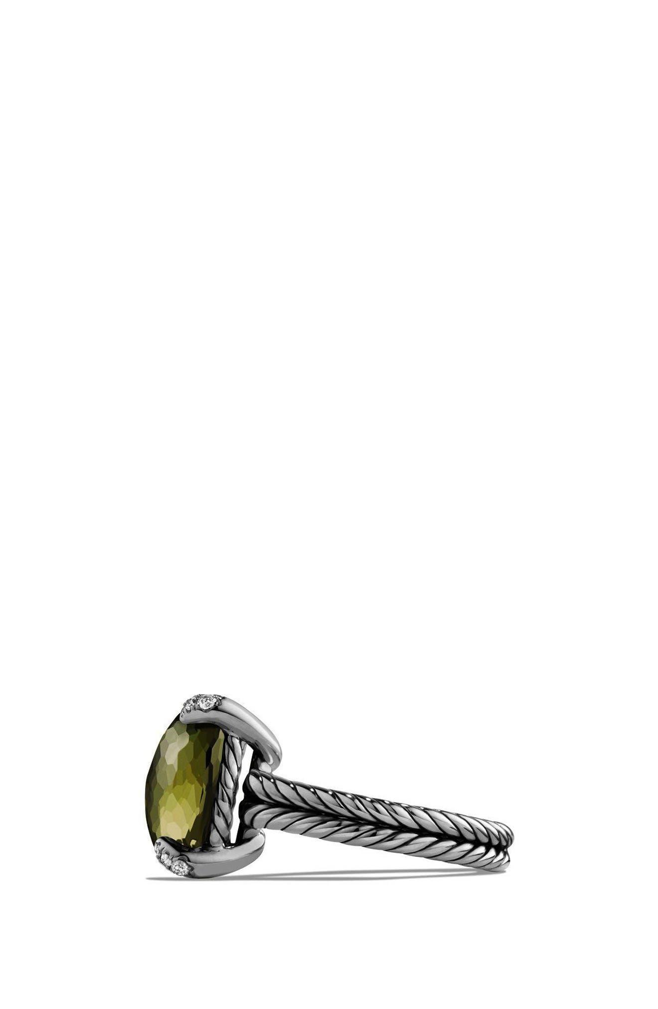 DAVID YURMAN, 'Châtelaine' Ring with Semiprecious Stone and Diamonds, Alternate thumbnail 2, color, SILVER/ CITRINE/ HEMATINE