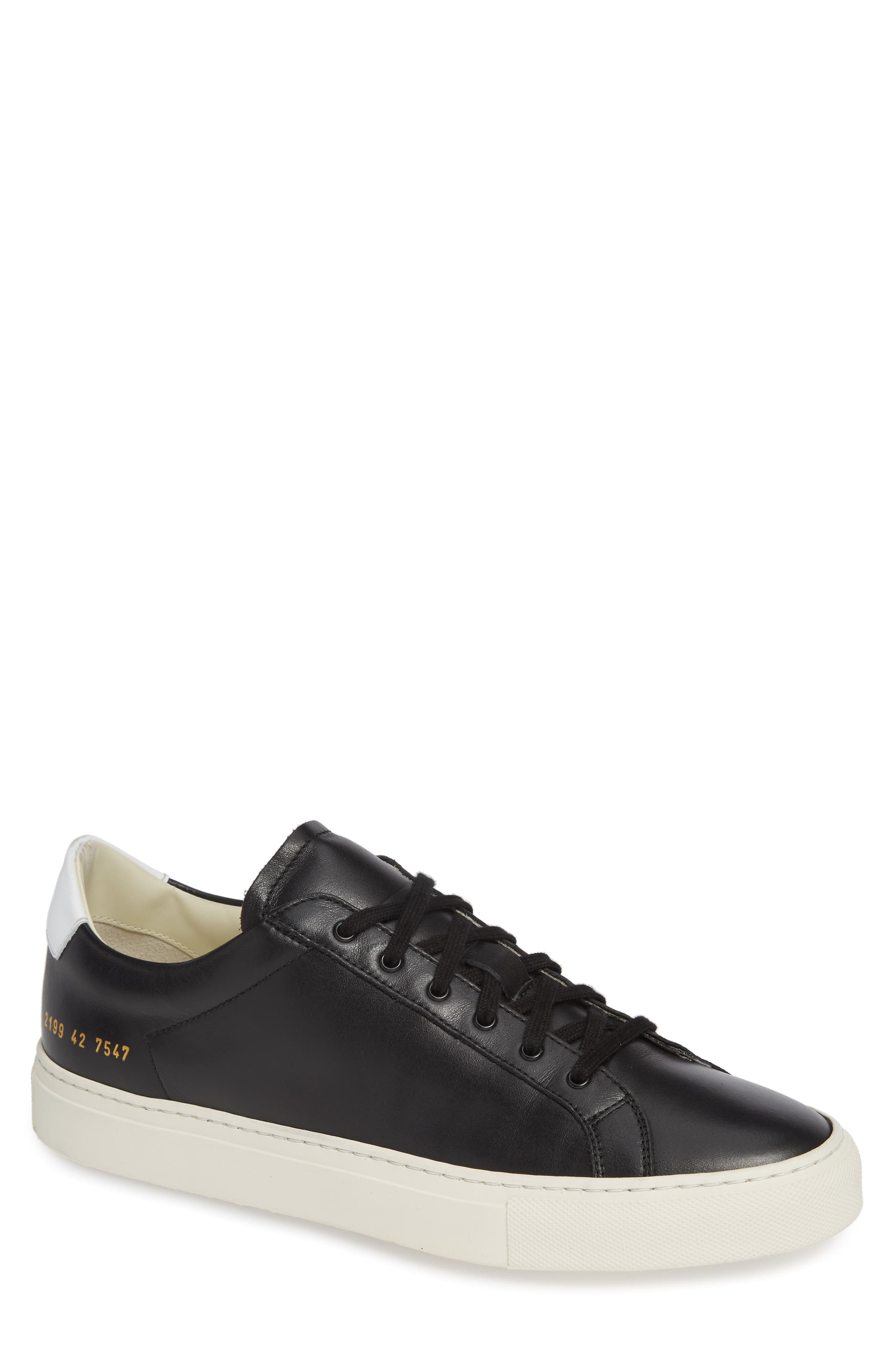 COMMON PROJECTS, Retro Sneaker, Main thumbnail 1, color, BLACK