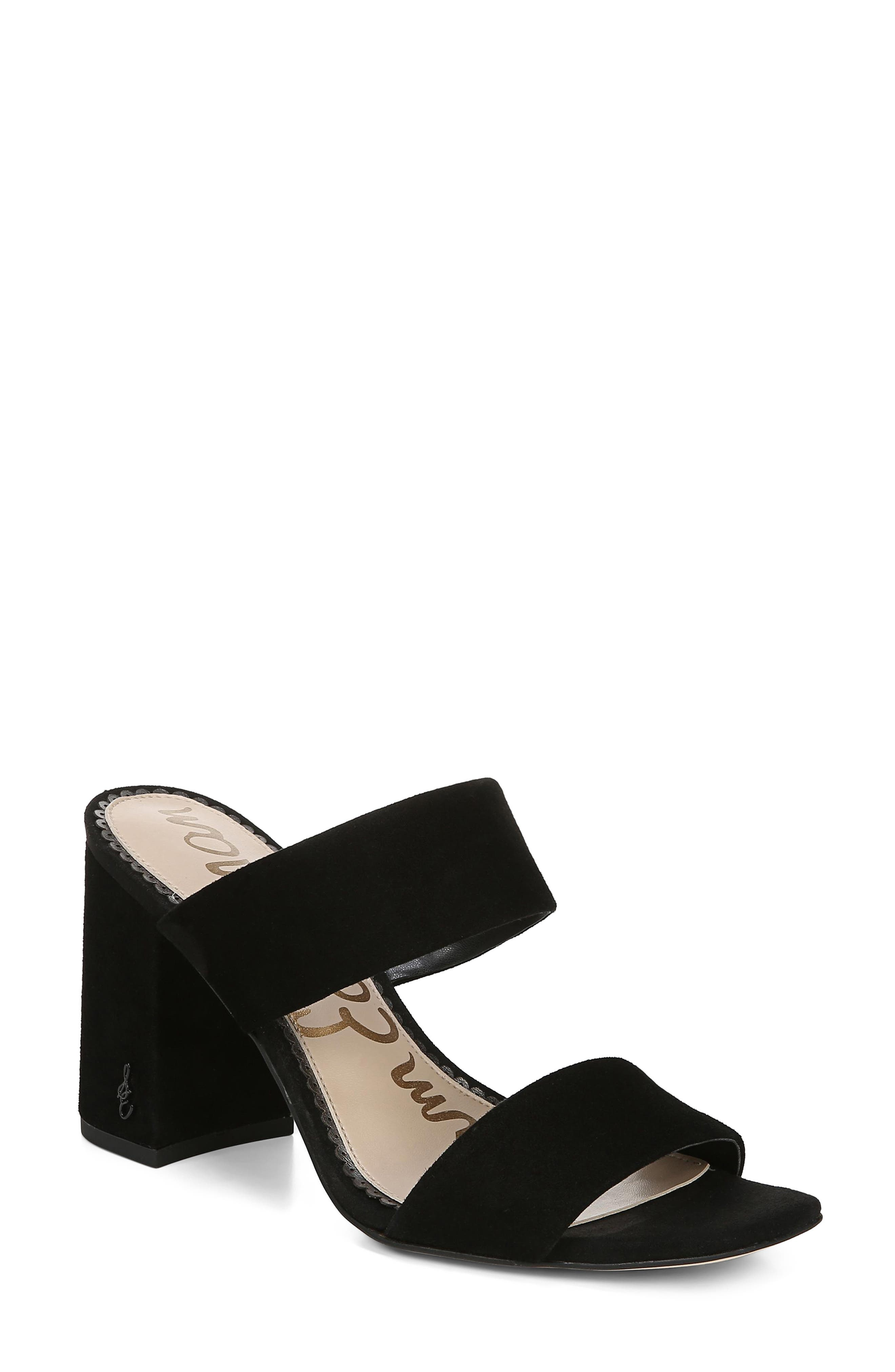 SAM EDELMAN Delaney Sandal, Main, color, BLACK SUEDE