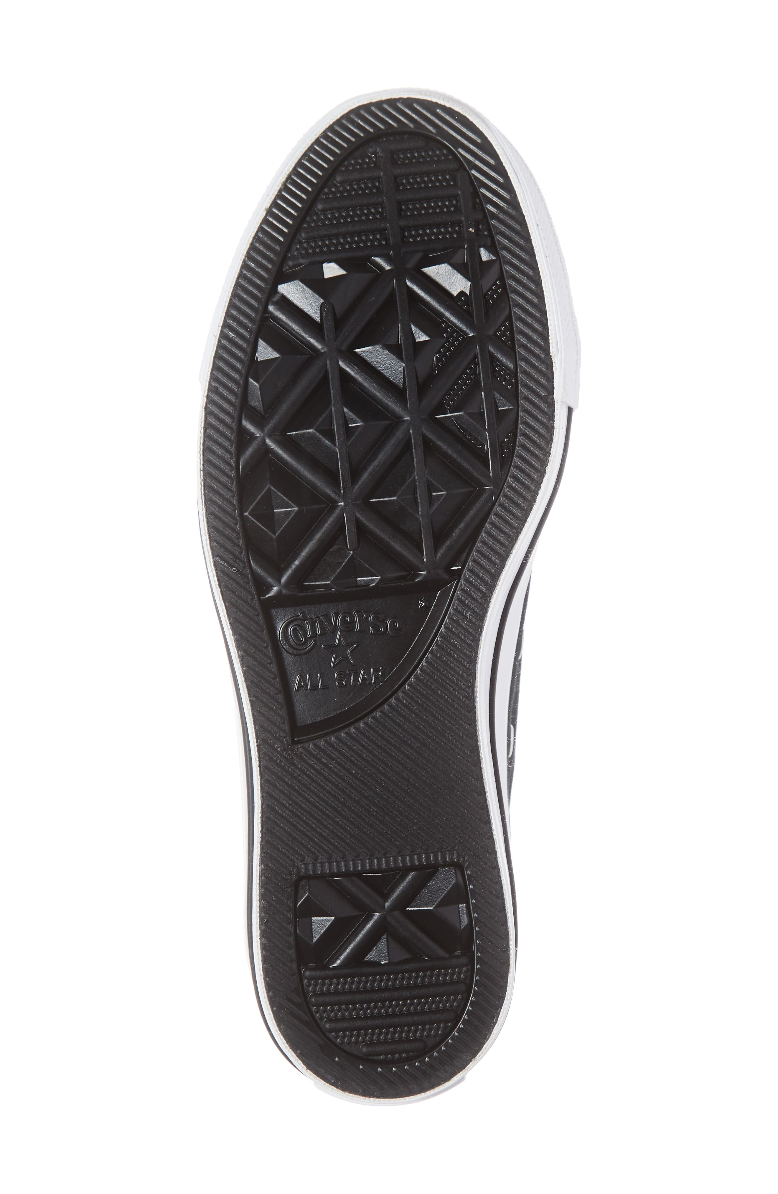 CONVERSE, Chuck Taylor<sup>®</sup> All Star<sup>®</sup> Low Top Sneaker, Alternate thumbnail 6, color, BLACK/ WHITE/ BLACK