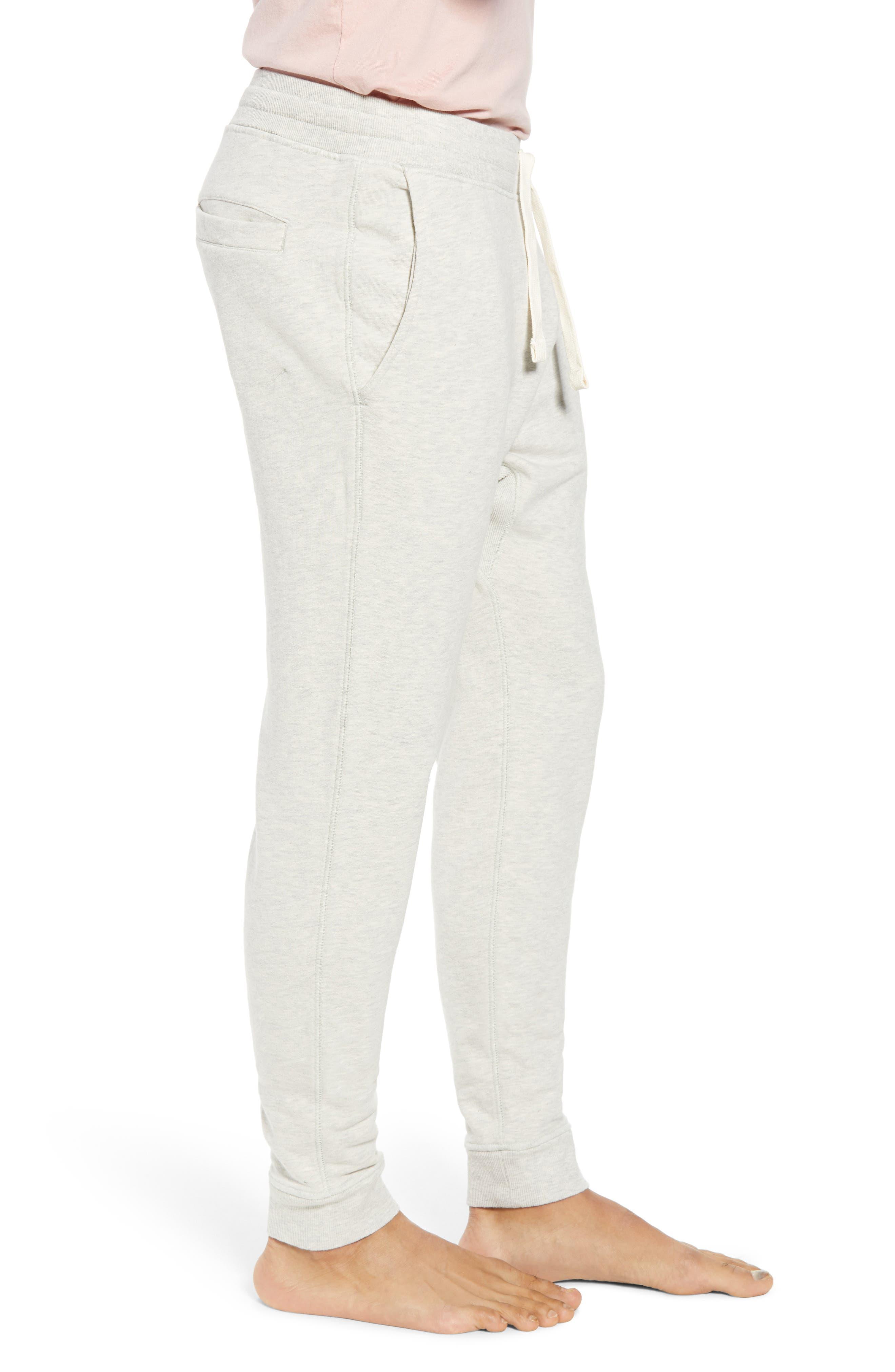 RICHER POORER, Cotton Lounge Pants, Alternate thumbnail 3, color, OATMEAL