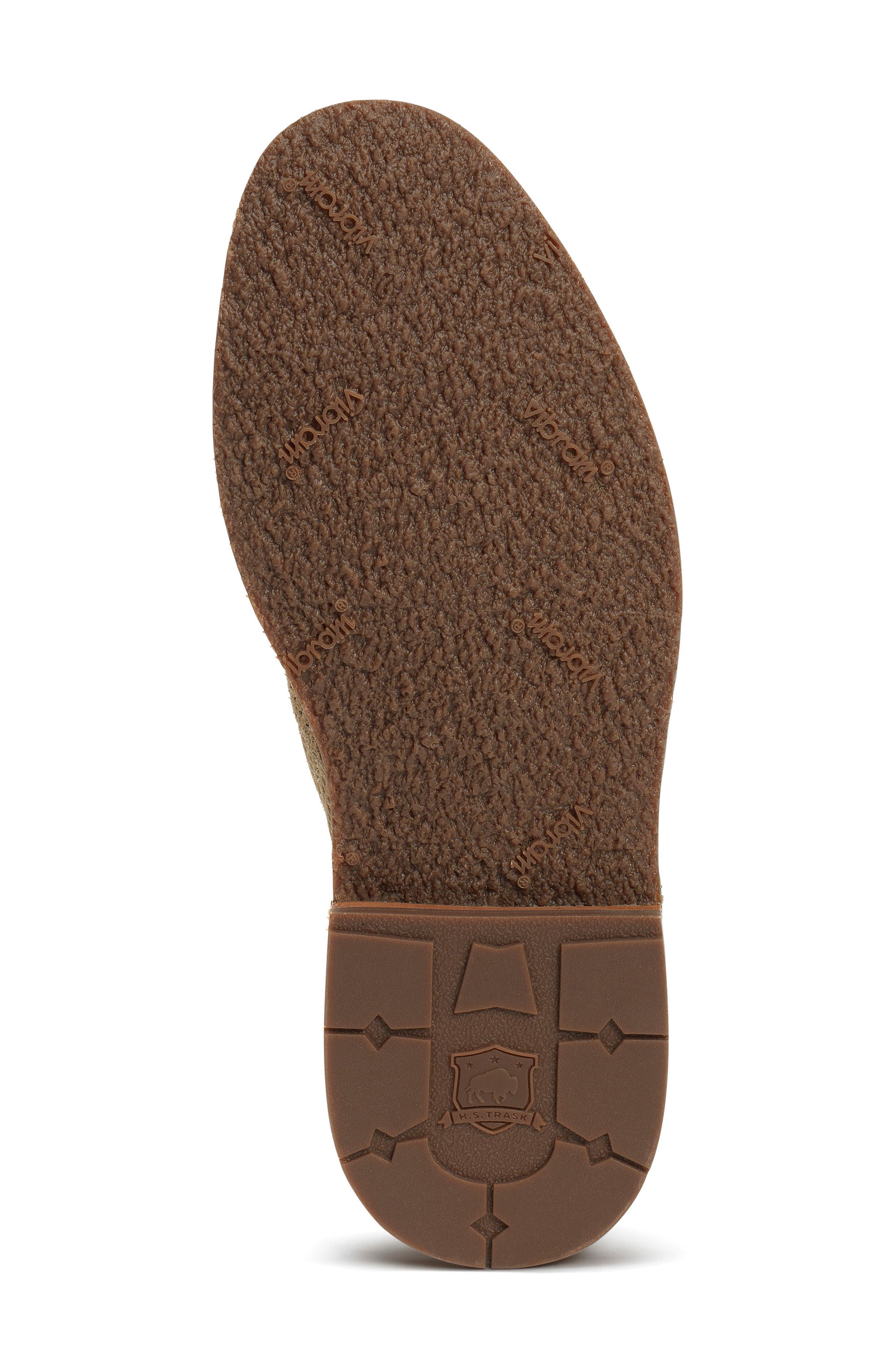 TRASK, Bradley Perforated Slip-On, Alternate thumbnail 6, color, TAUPE SUEDE