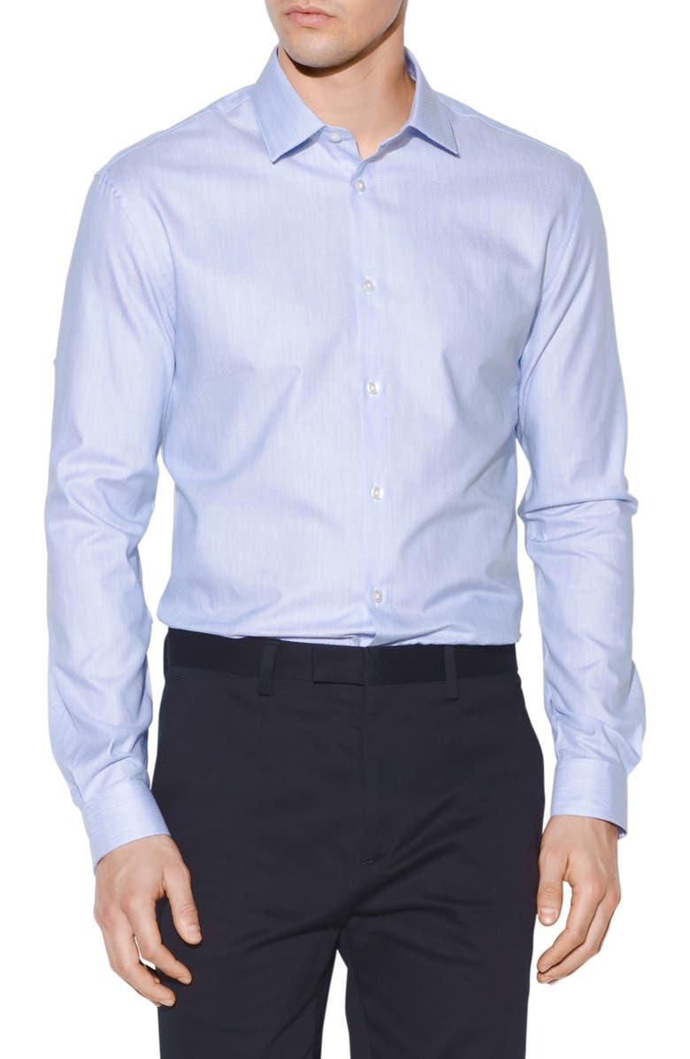 John Varvatos Dresses SLIM FIT JACQUARD DRESS SHIRT