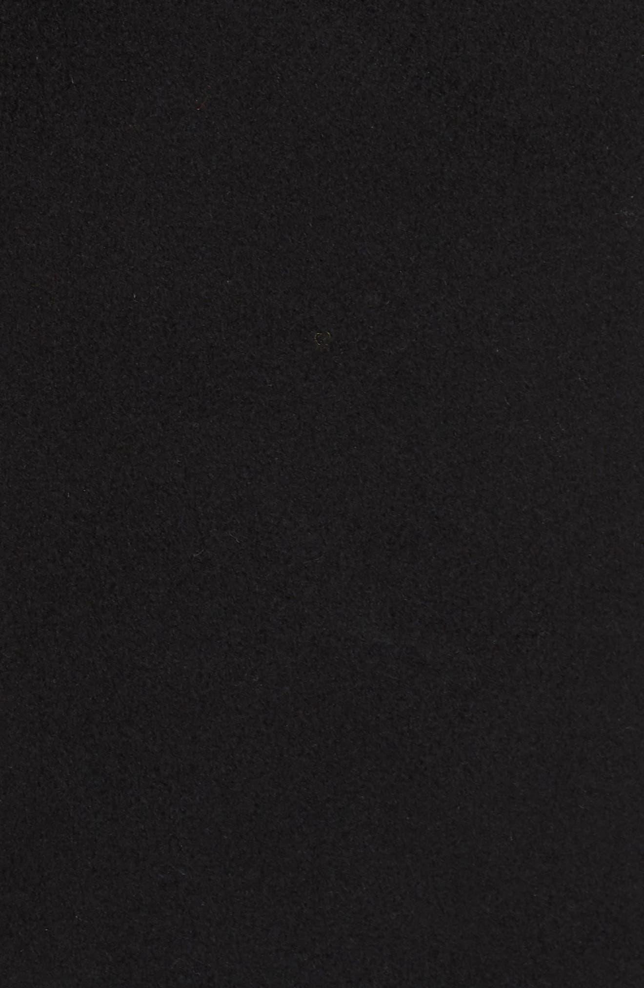 FLEURETTE, Notch Collar Loro Piana Wool Coat, Alternate thumbnail 7, color, BLACK