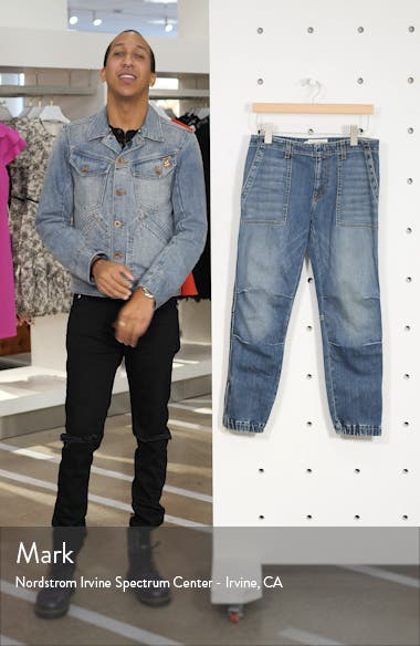 Crop French Military Jeans, sales video thumbnail