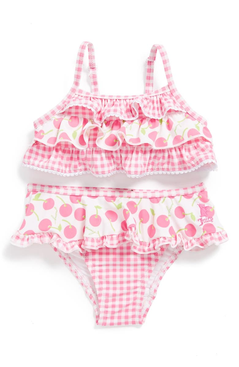 1f5b028a9c9 Juicy Couture 'Cherry' Two-Piece Swimsuit (Baby Girls) | Nordstrom