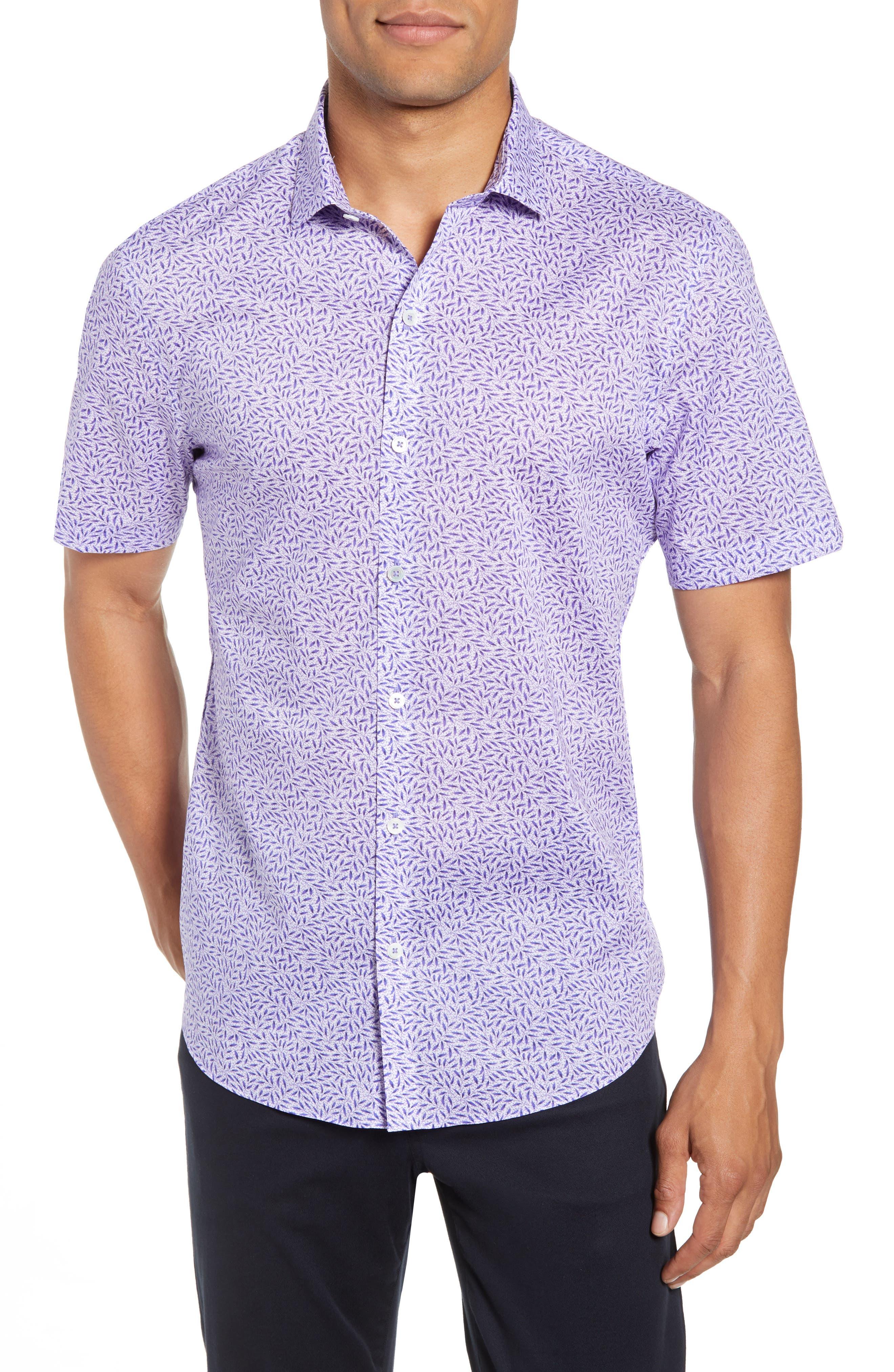 ZACHARY PRELL Stiller Regular Fit Sport Shirt, Main, color, PURPLE
