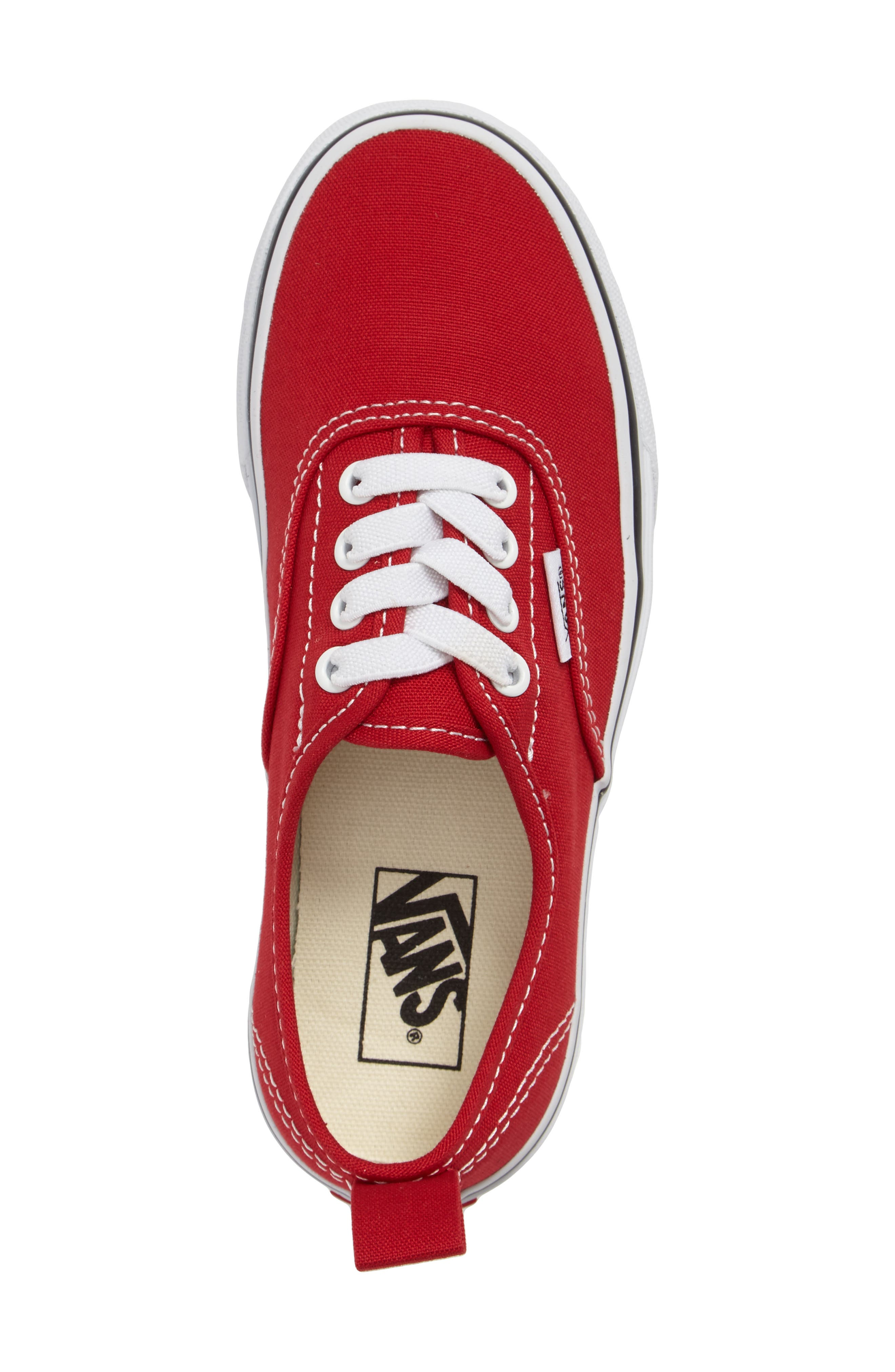 VANS, Authentic Sneaker, Alternate thumbnail 3, color, RACING RED/ TRUE WHITE