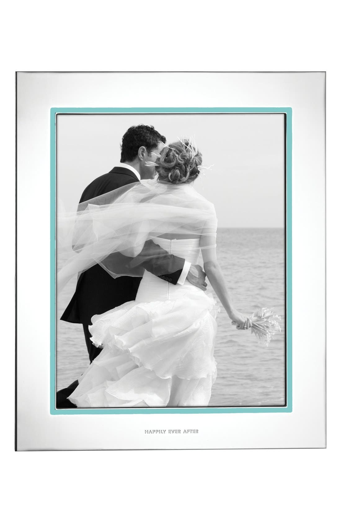 KATE SPADE NEW YORK, take the cake picture frame, Alternate thumbnail 2, color, SILVER/ TURQUOISE
