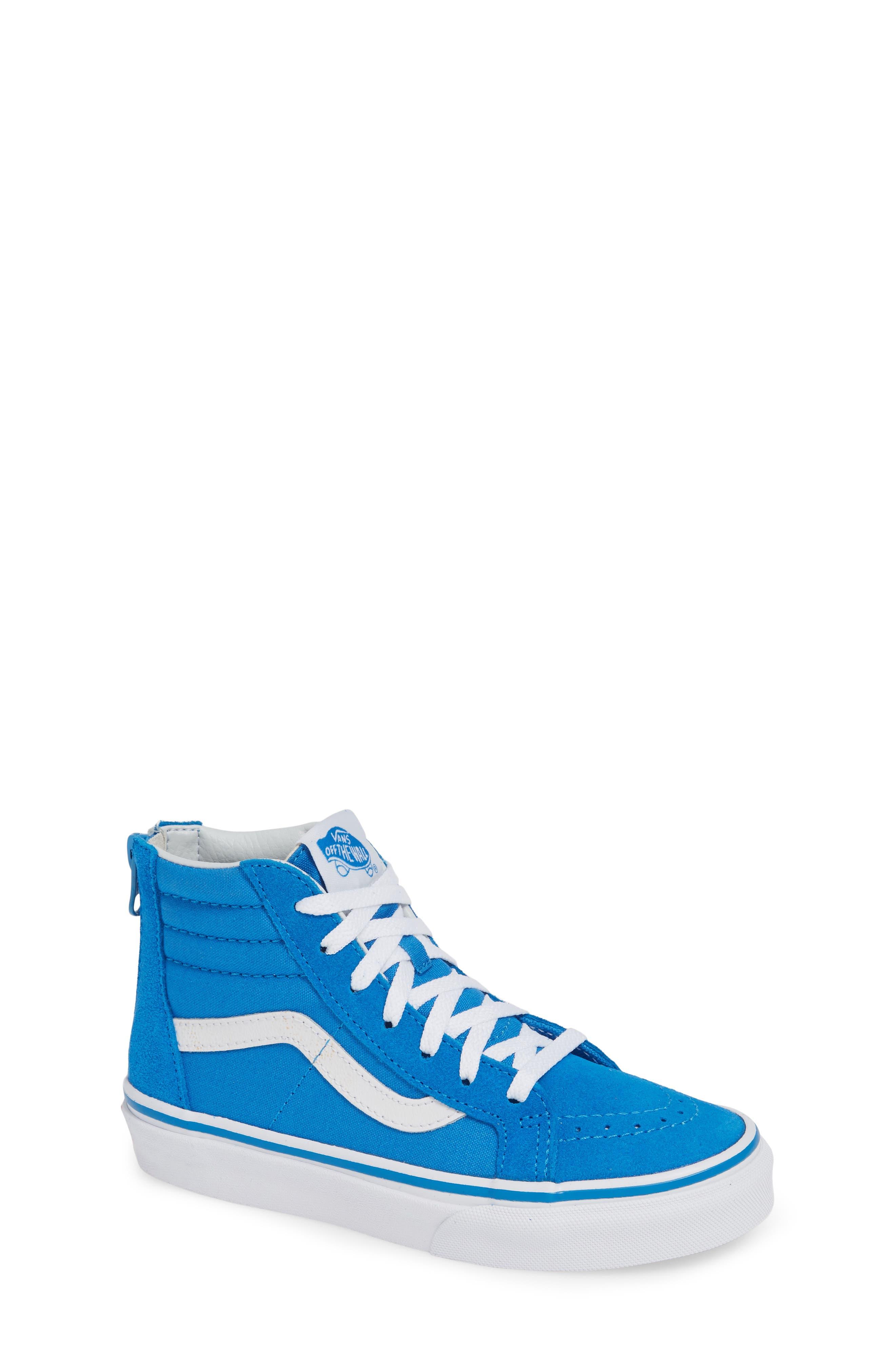 VANS, 'Sk8-Hi' Sneaker, Main thumbnail 1, color, INDIGO BUNTING/ TRUE WHITE