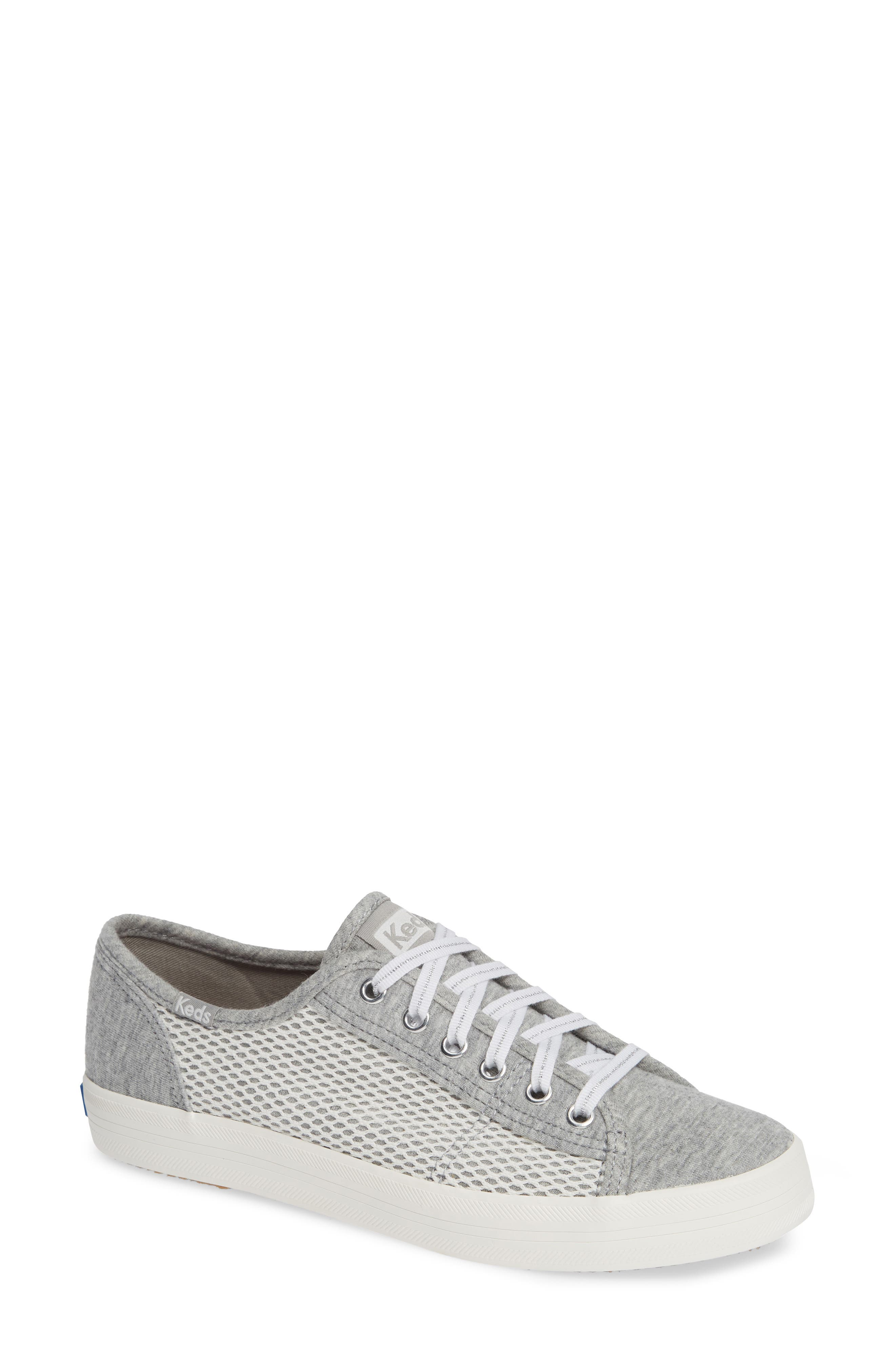 KEDS<SUP>®</SUP> Kickstart Mesh & Jersey Sneaker, Main, color, LIGHT GRAY