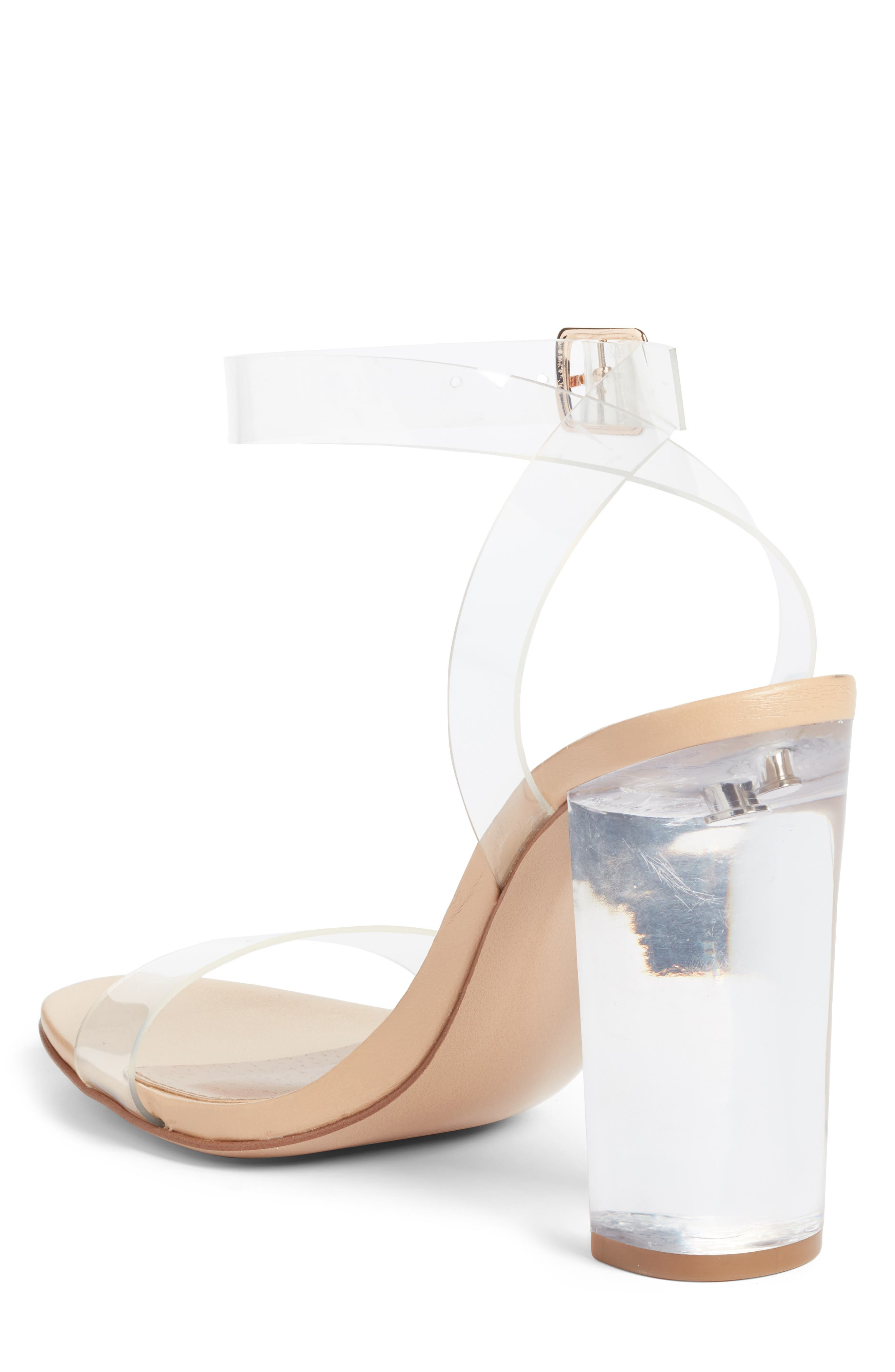 STEVE MADDEN, Camille Clear Sandal, Alternate thumbnail 2, color, CLEAR