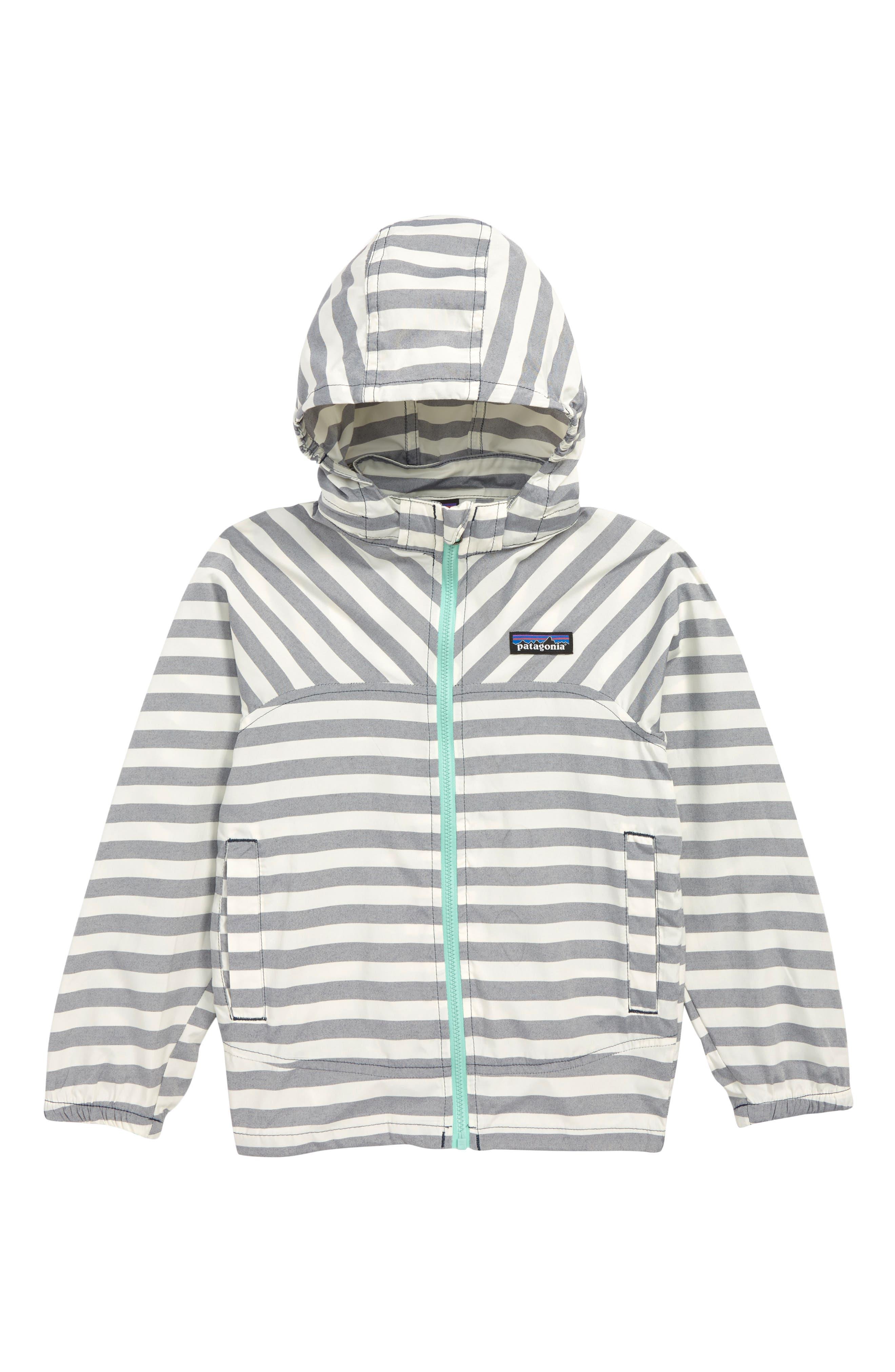 PATAGONIA, High Sun Hooded Windbreaker Jacket, Main thumbnail 1, color, STIX STRIPE/ NEO NAVY