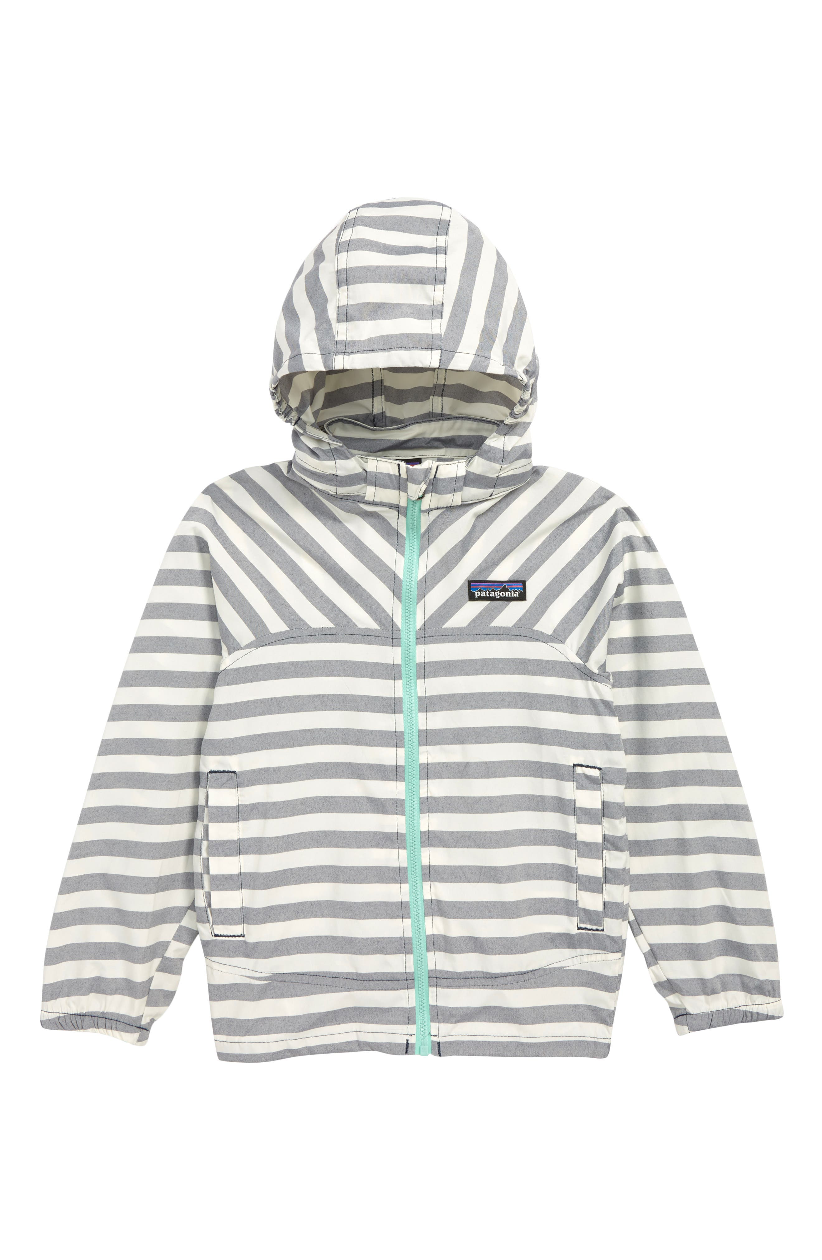PATAGONIA High Sun Hooded Windbreaker Jacket, Main, color, STIX STRIPE/ NEO NAVY