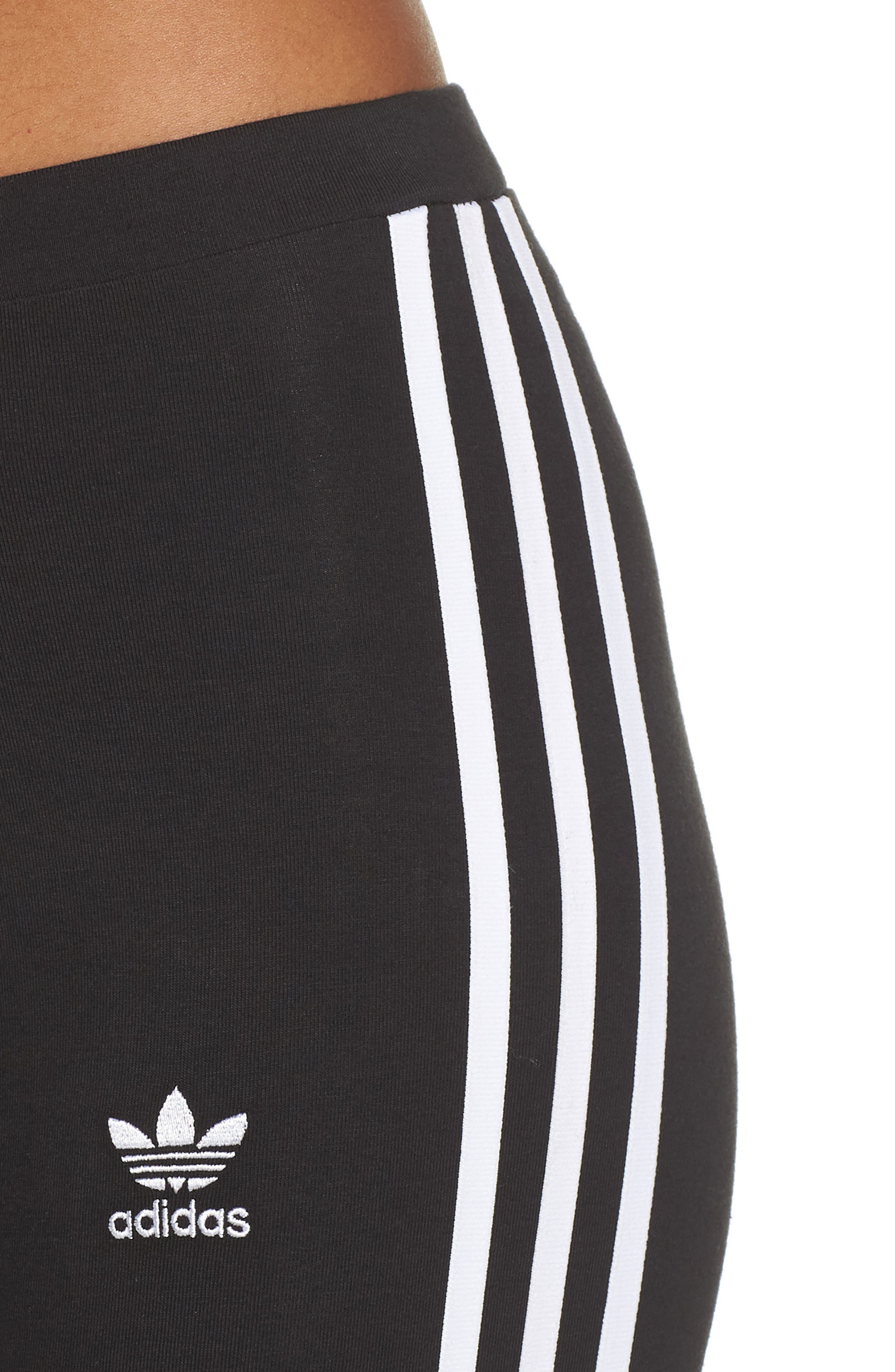 ADIDAS ORIGINALS, adidas 3-Stripes Tights, Alternate thumbnail 5, color, 001
