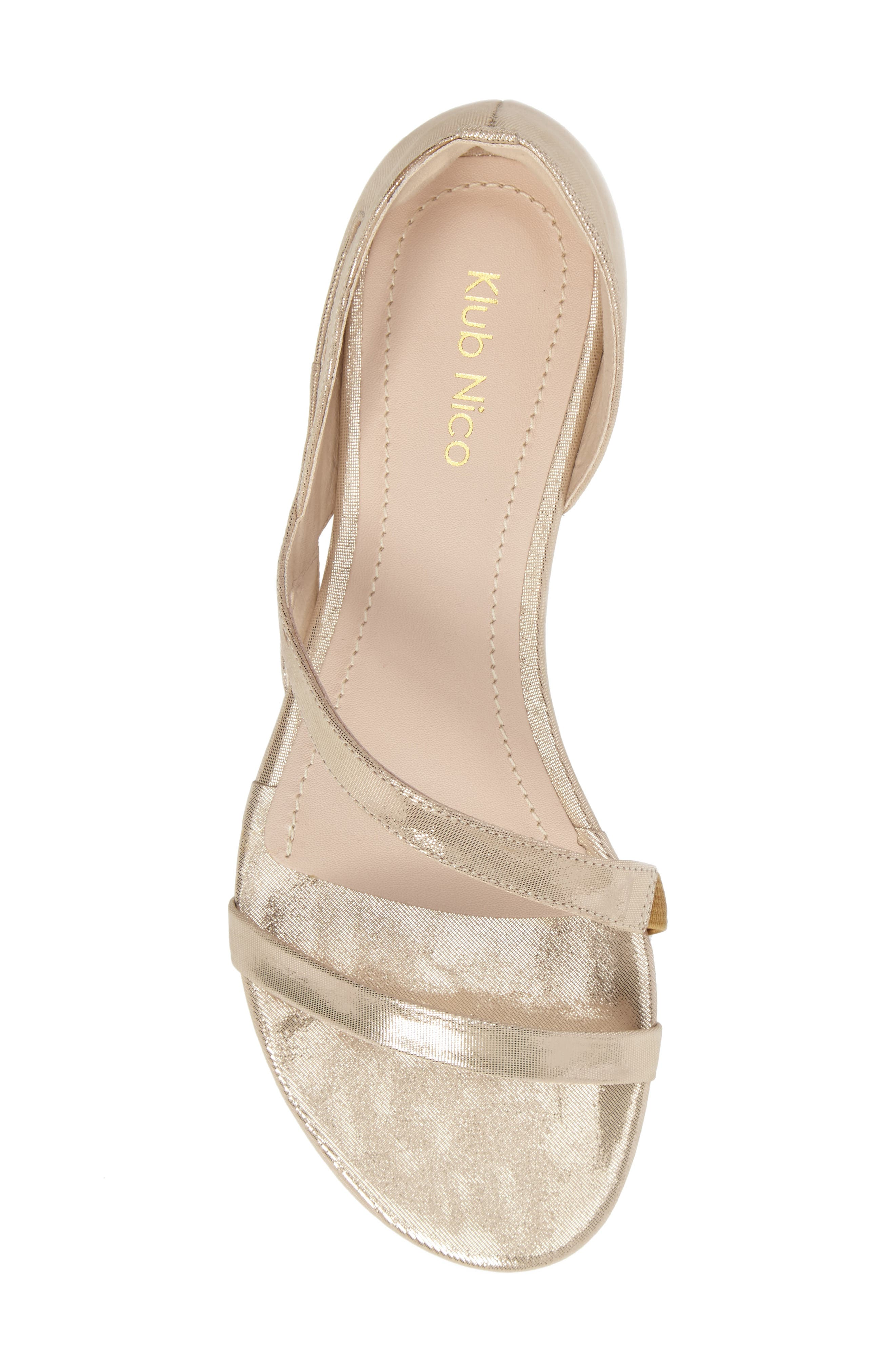 KLUB NICO, Jeanne Sandal, Alternate thumbnail 5, color, CHAMPAGNE LEATHER