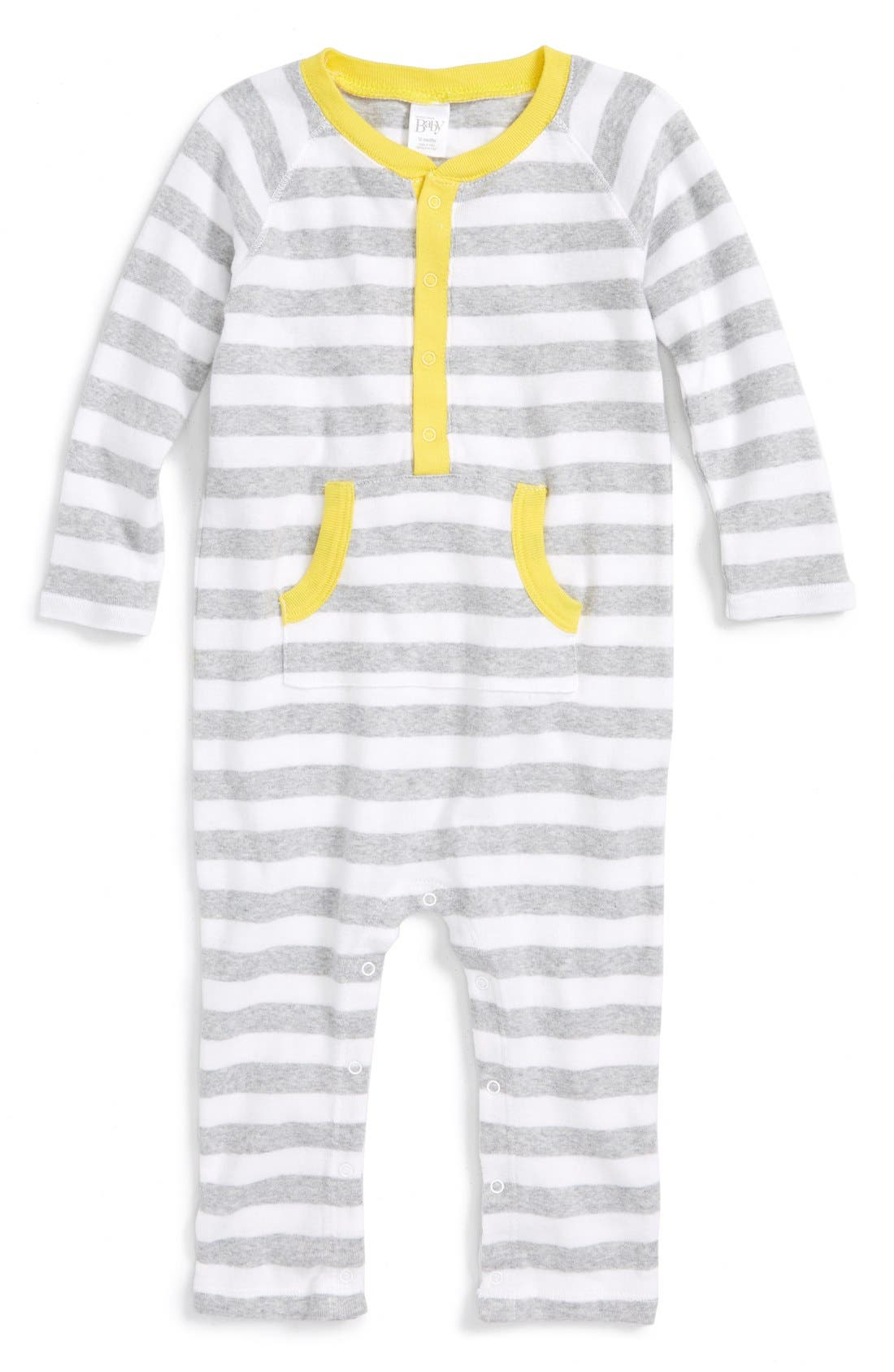 NORDSTROM BABY, Stripe Romper, Main thumbnail 1, color, 050