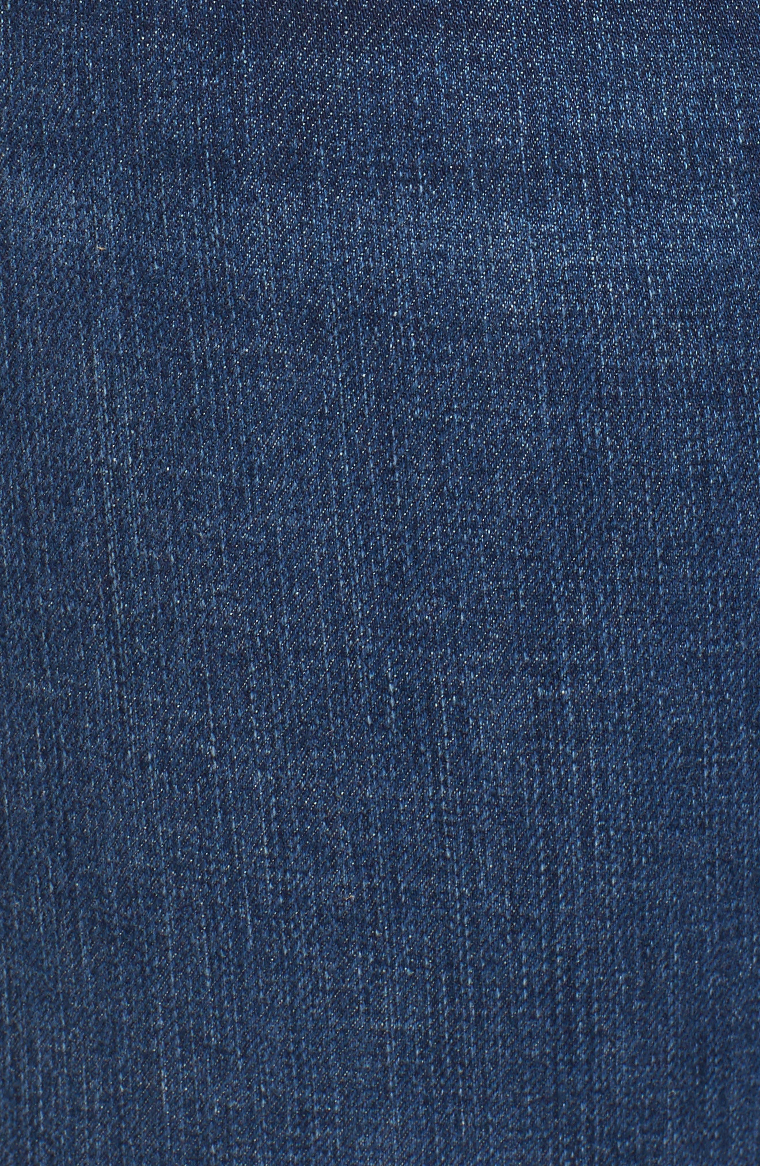 SLINK JEANS, Roll Crop Boyfriend Jeans, Alternate thumbnail 6, color, AMBER