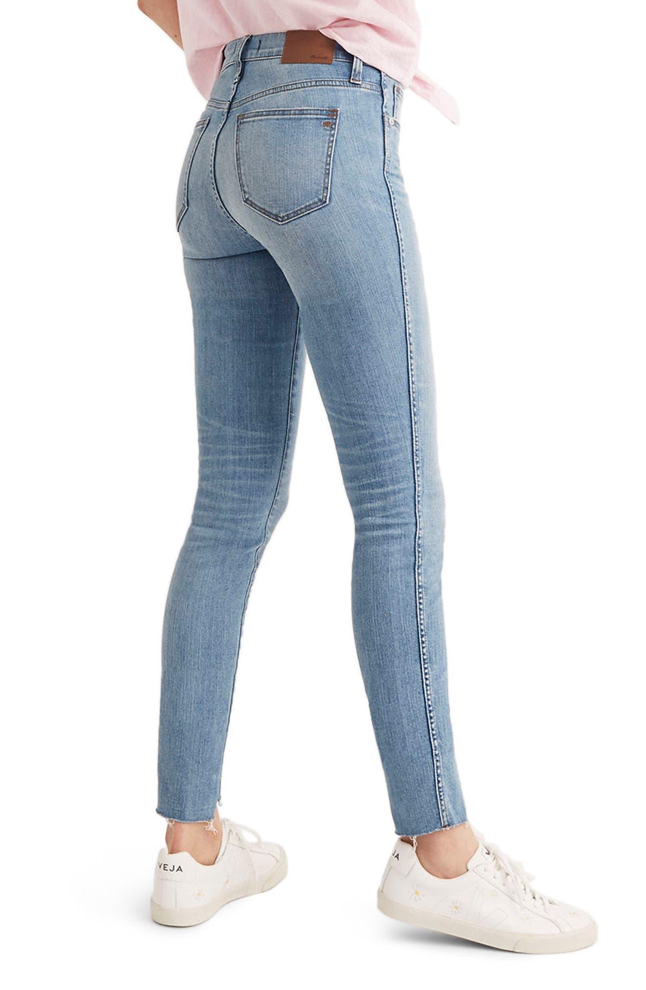 MADEWELL, 9-Inch High Waist Seamed Step-Hem Edition Skinny Jeans, Alternate thumbnail 2, color, 400
